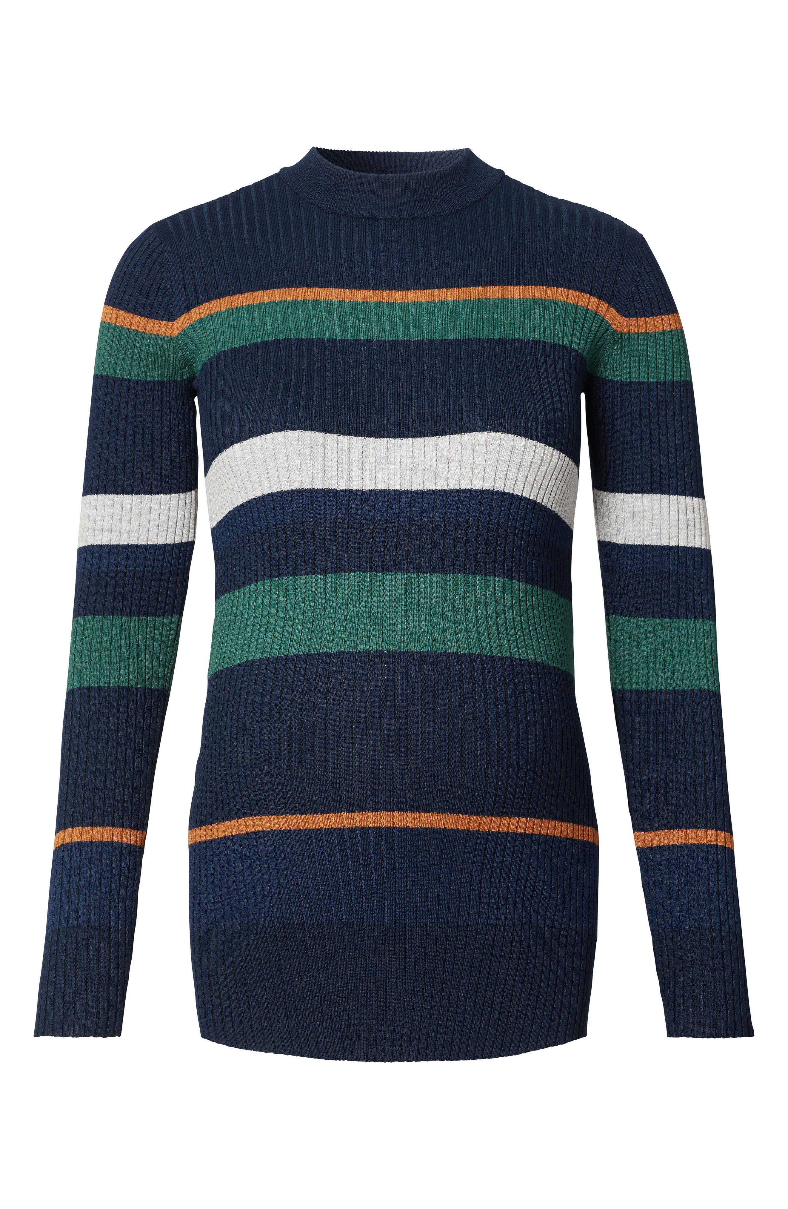 Main Image - Noppies Georgia Stripe Maternity Sweater
