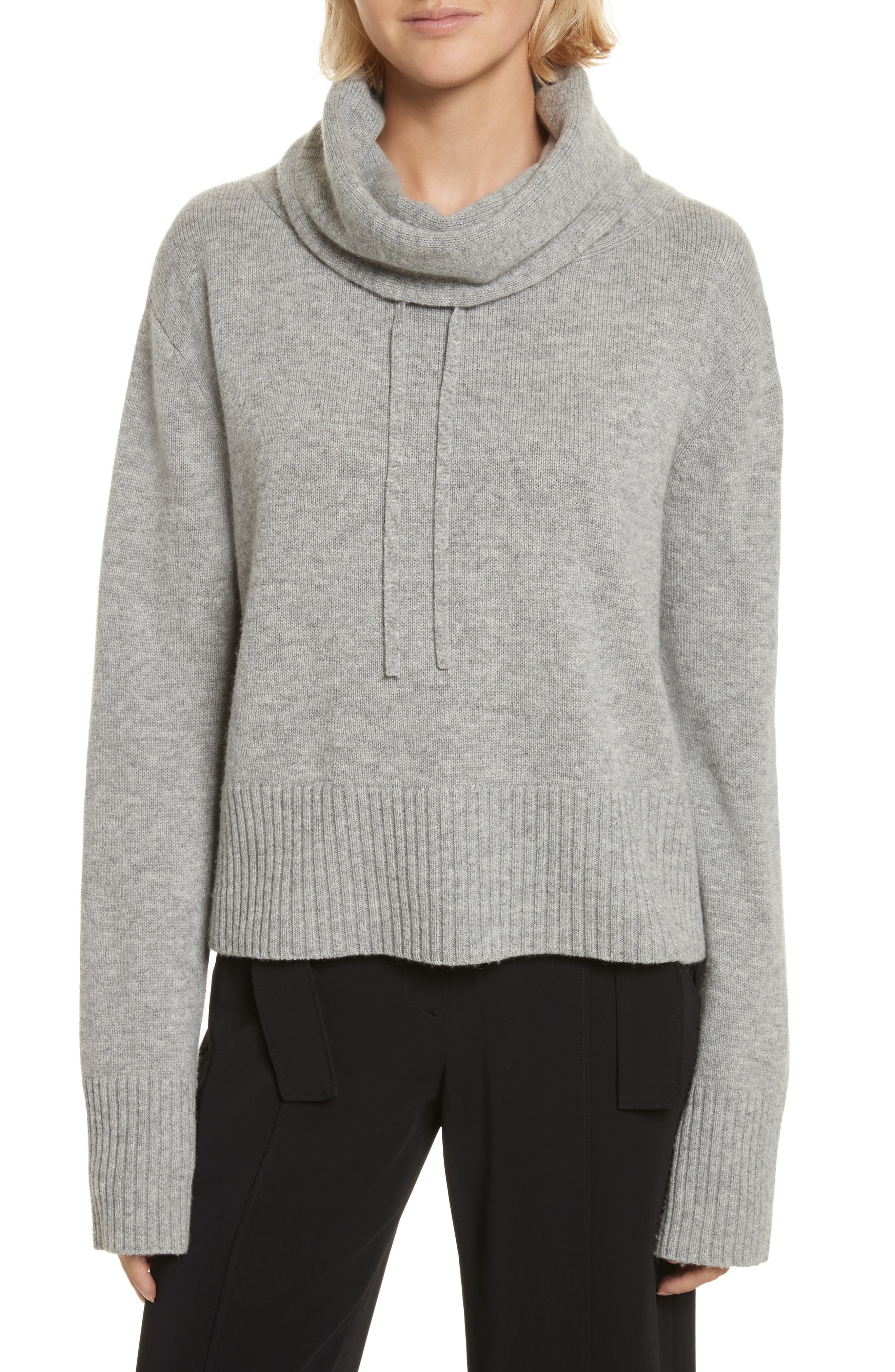 Archie Funnel Neck Wool & Cashmere Sweater,                             Main thumbnail 1, color,                             Husky