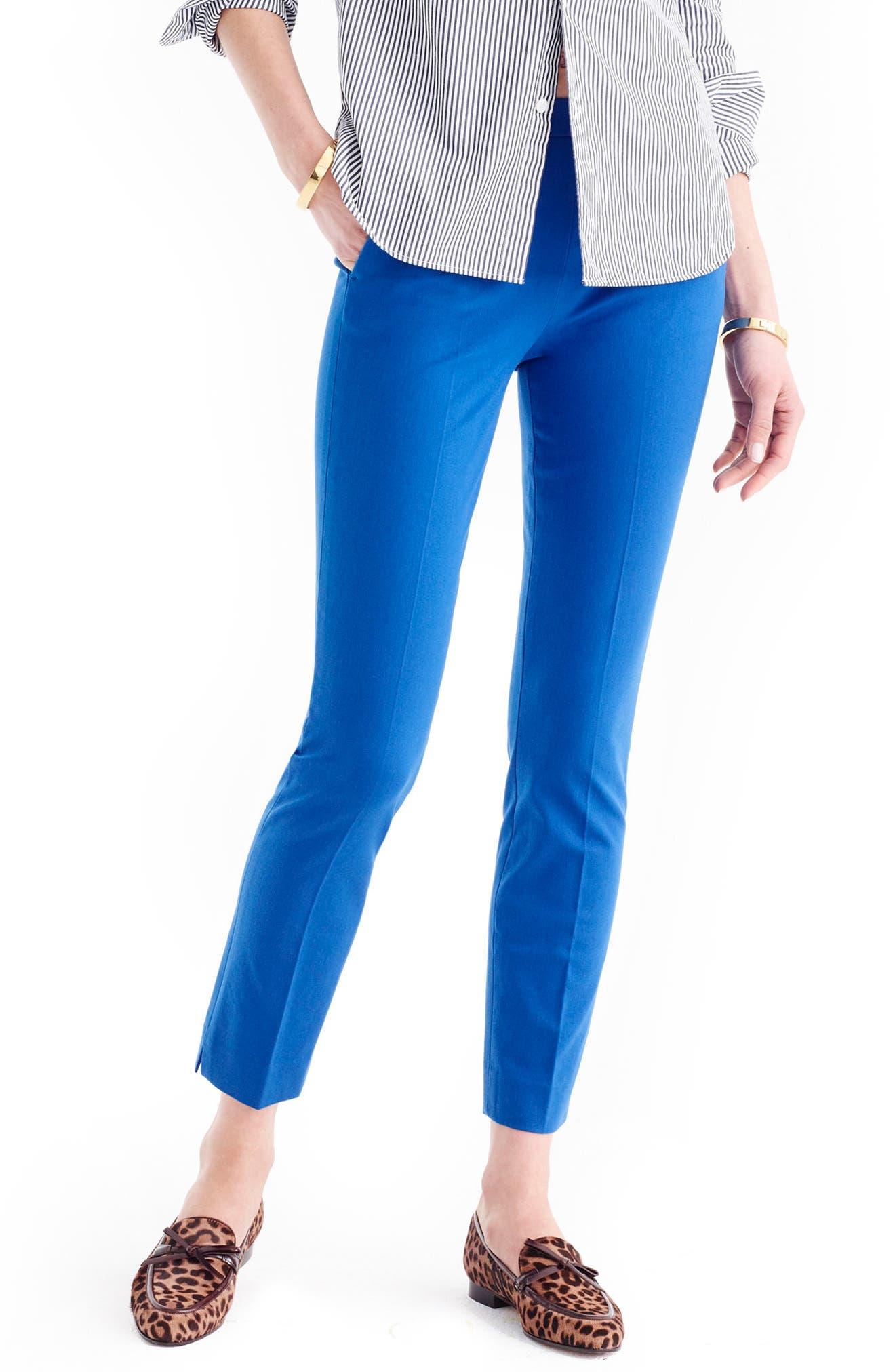J.Crew 'Martie' Bi-Stretch Cotton Blend Pants (Regular & Petite)