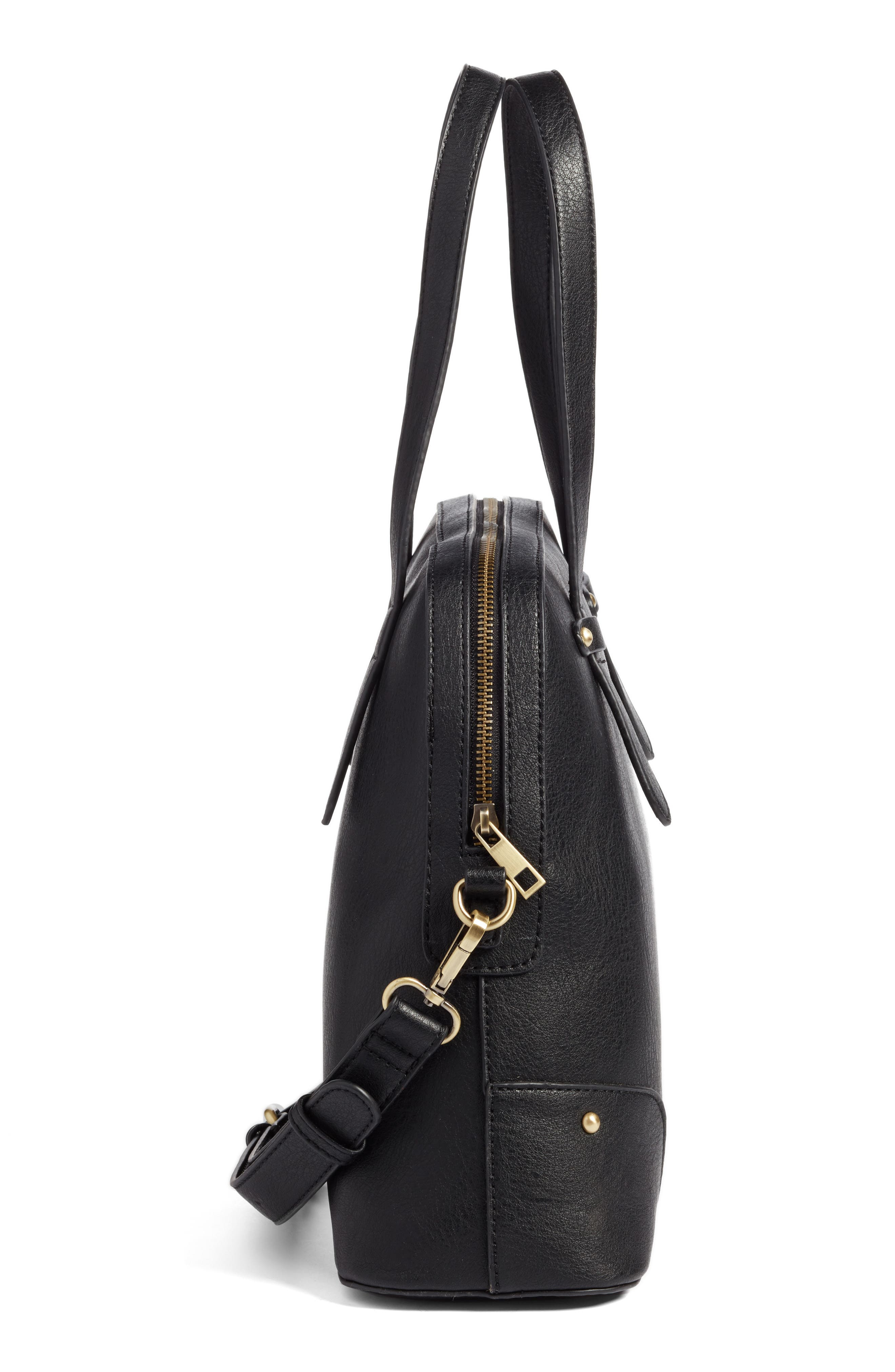 Alternate Image 4  - Sole Society Christie Faux Leather Satchel