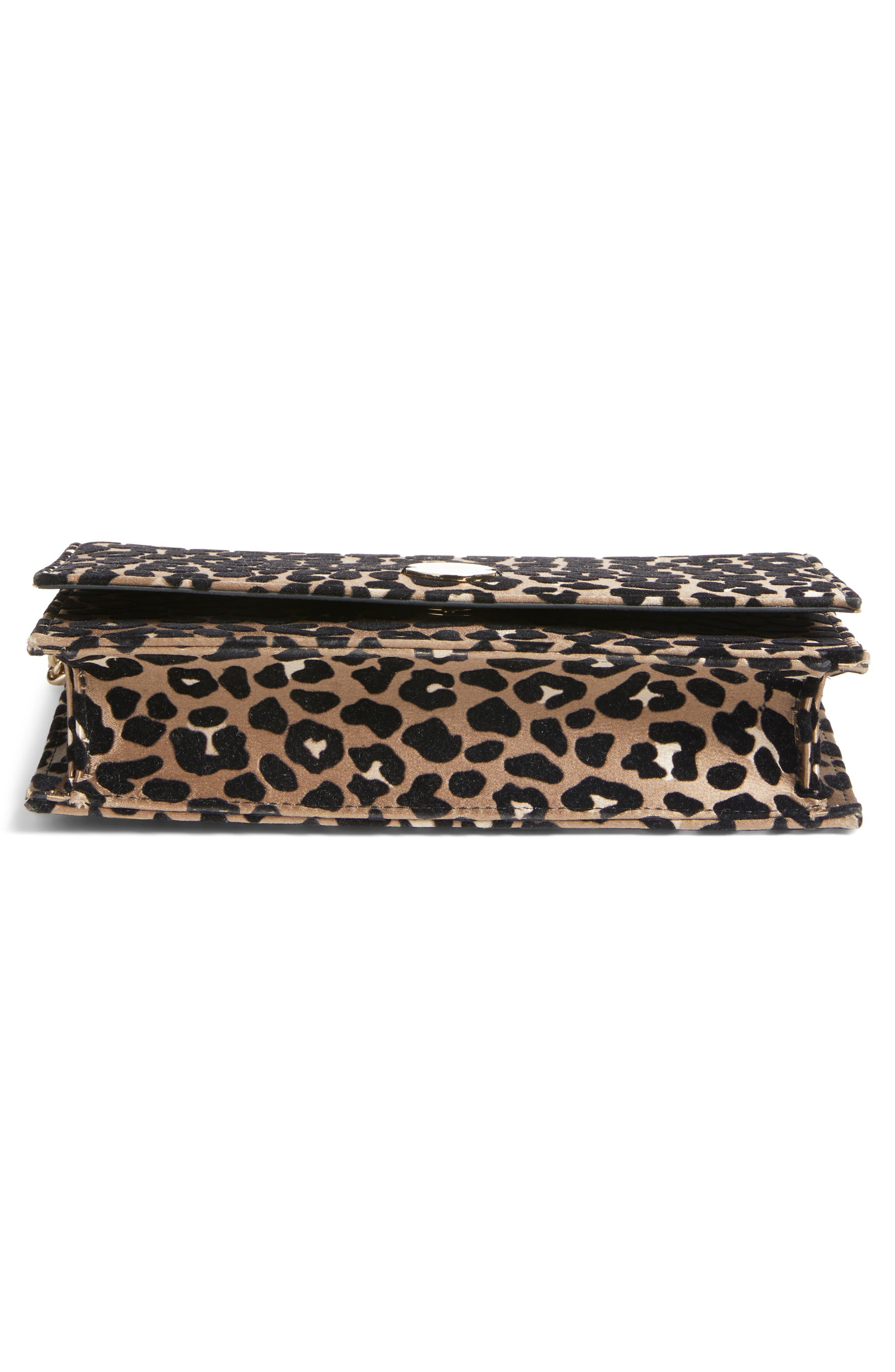 Alternate Image 5  - Jimmy Choo Florence Leopard Print Crossbody Bag