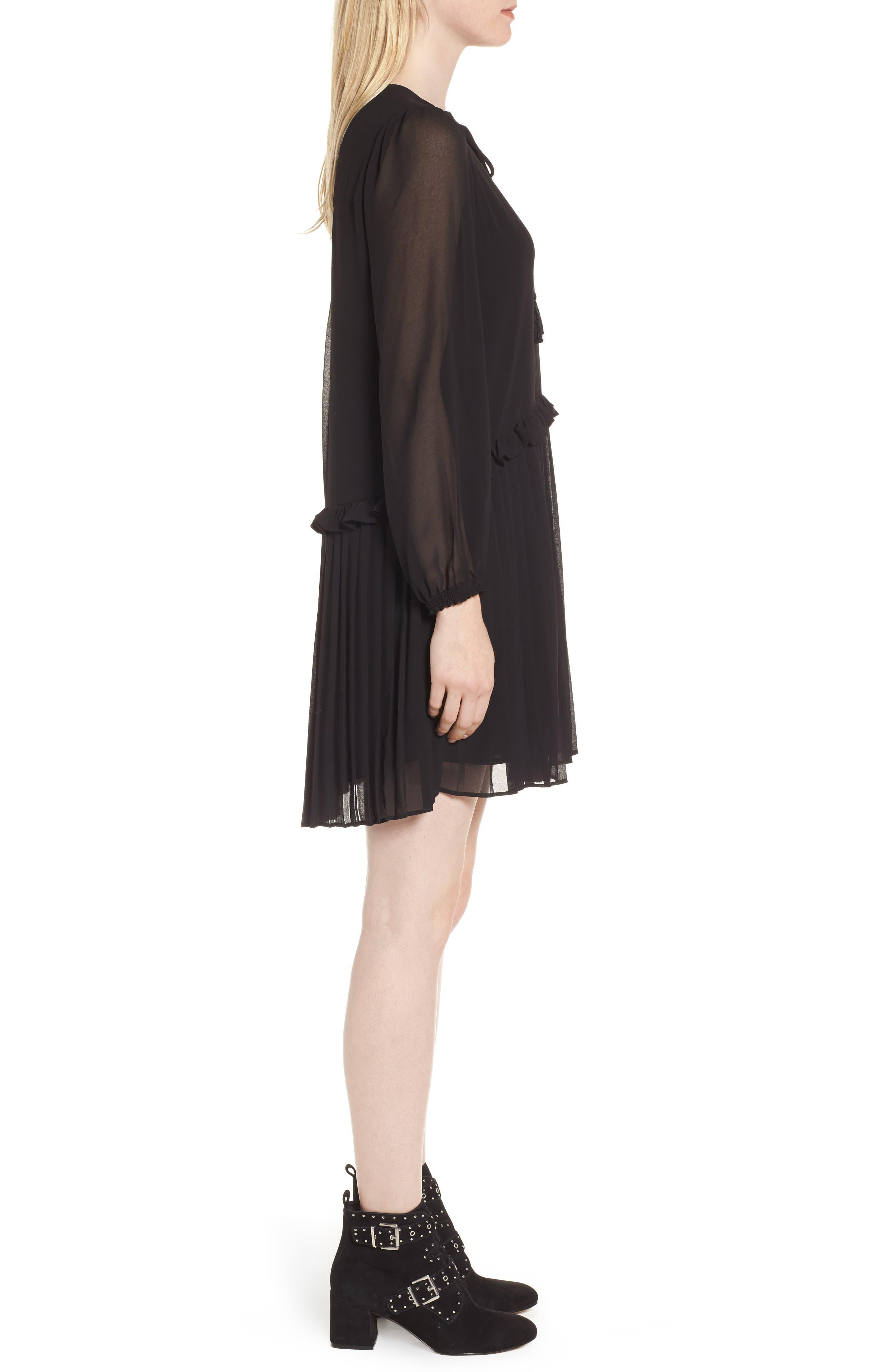 Morrison Shift Dress,                             Alternate thumbnail 3, color,                             Black