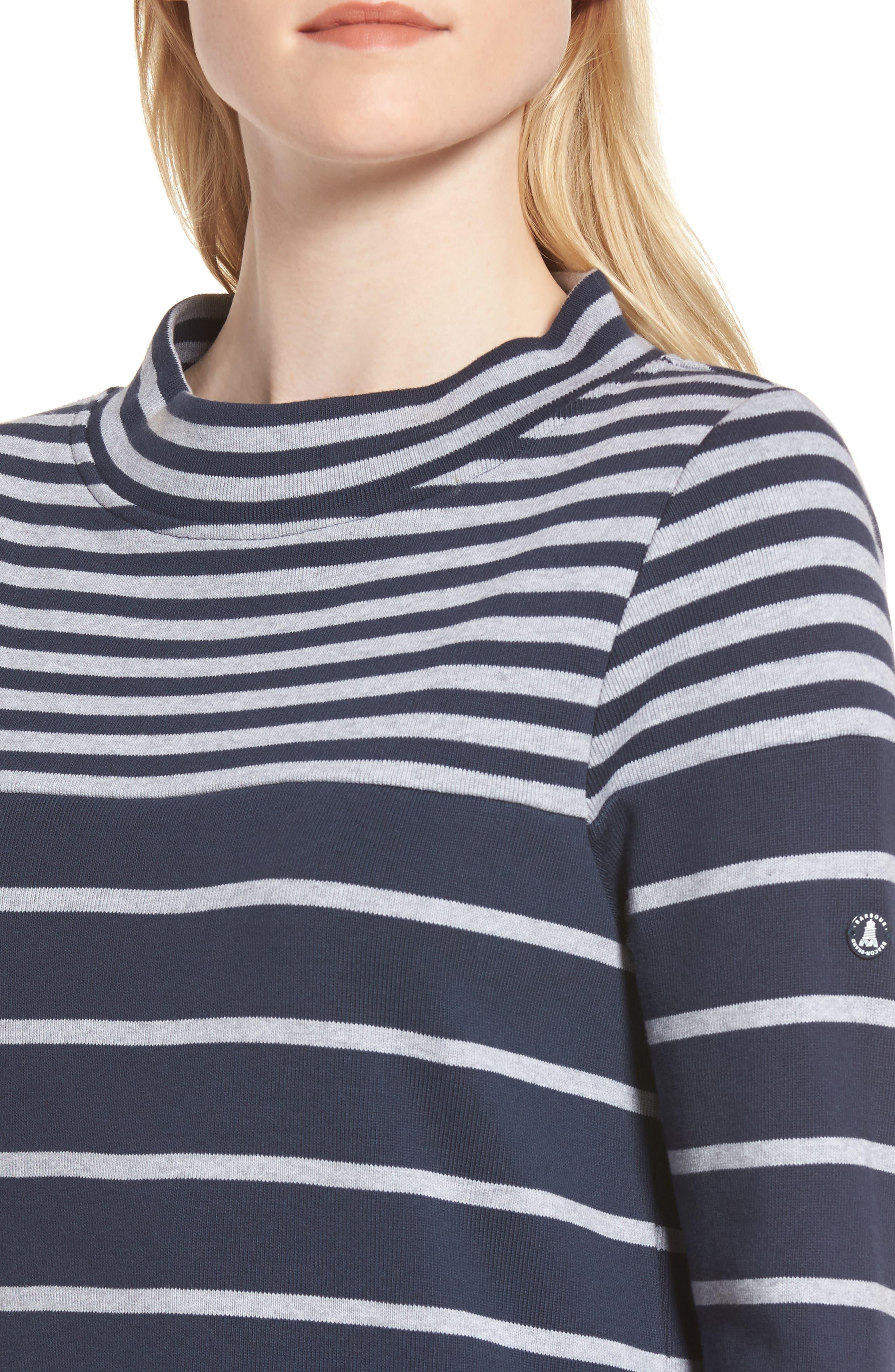 Seaburn Stripe Shift Dress,                             Alternate thumbnail 4, color,                             Navy