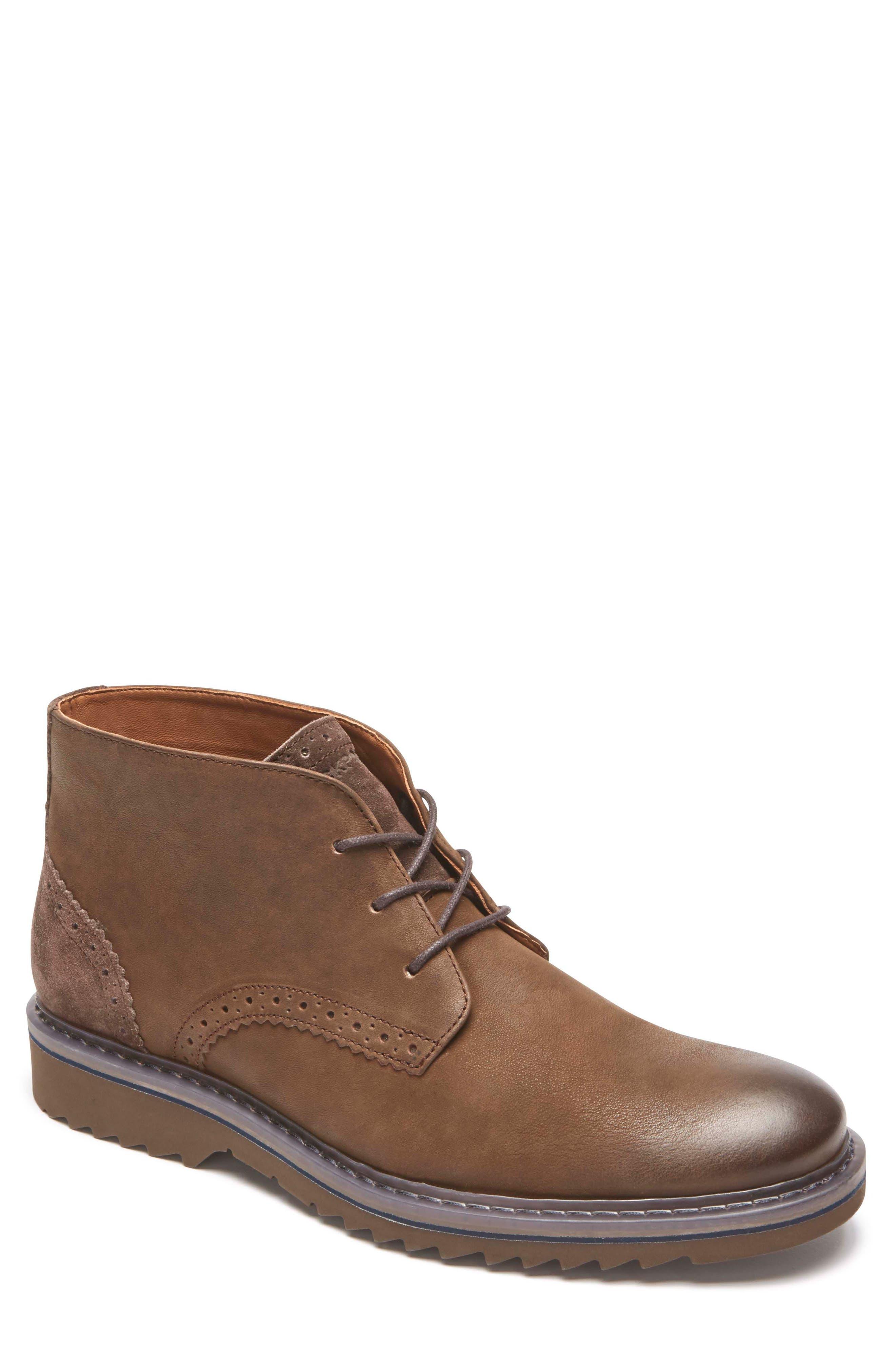 Jaxson Chukka Boot,                             Main thumbnail 1, color,                             Brown/ Brown Leather