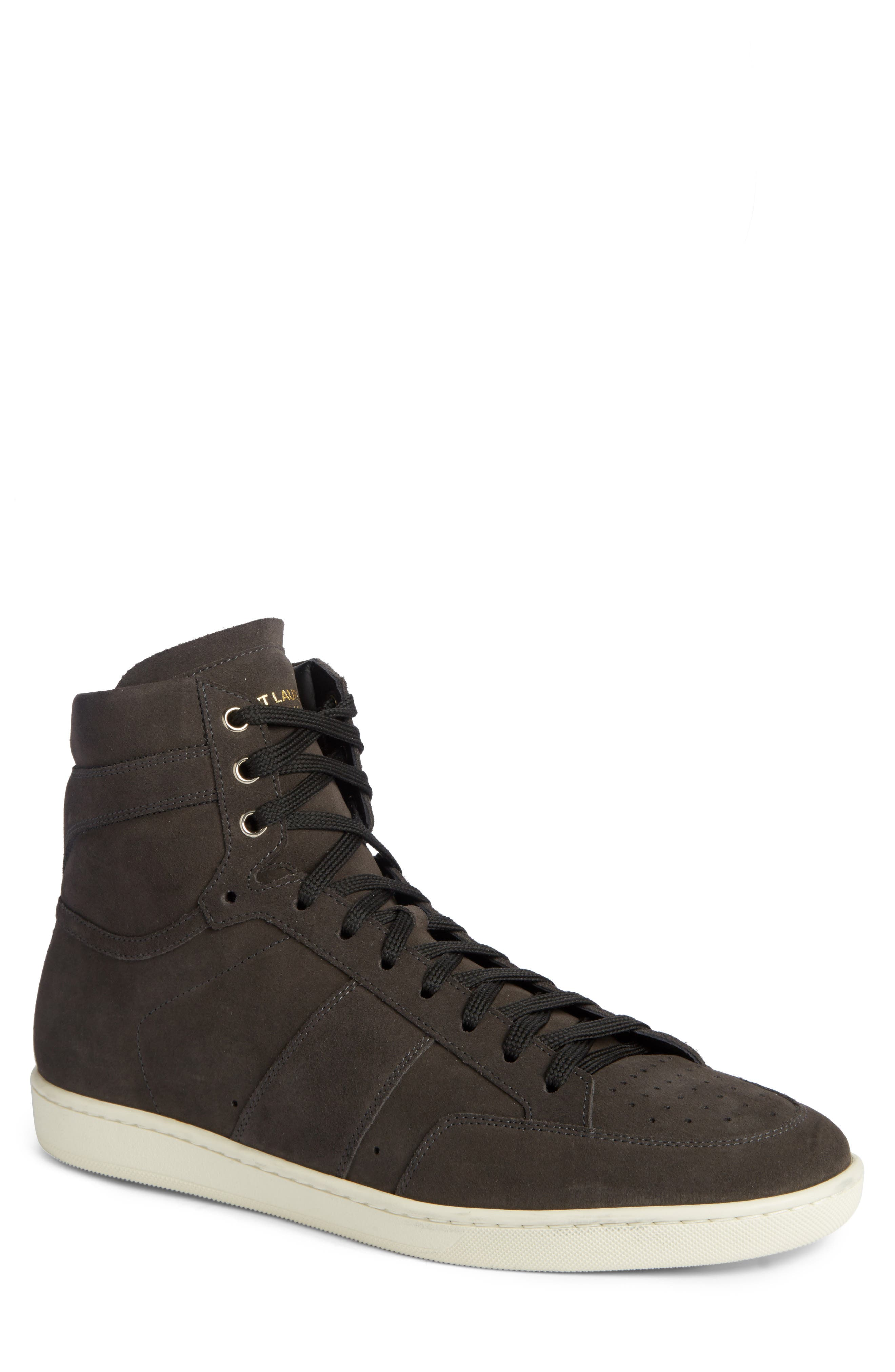 High Top Sneaker,                             Main thumbnail 1, color,                             Grey Suede