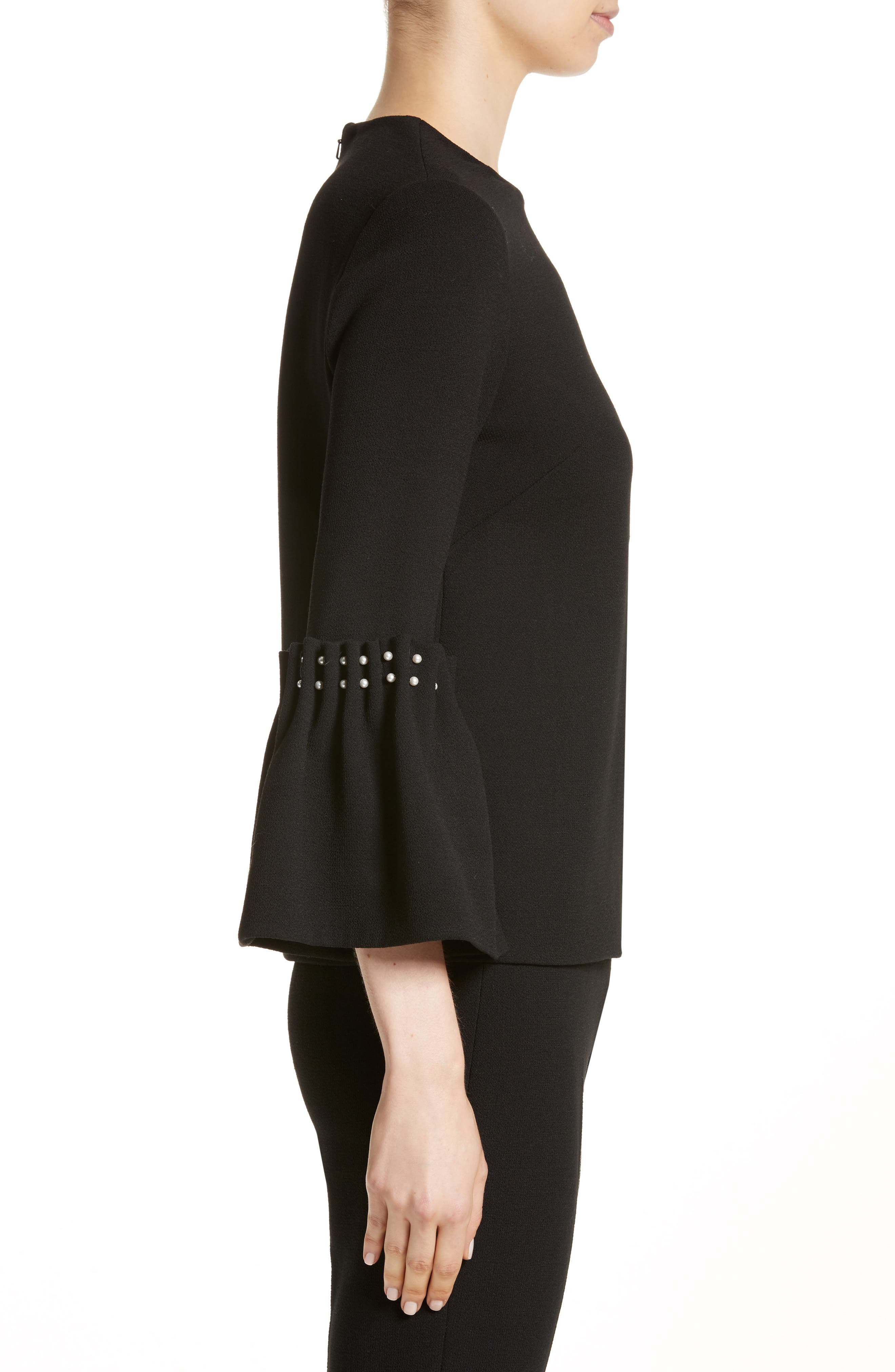 Alternate Image 3  - Lela Rose Pearly Trim Tunic