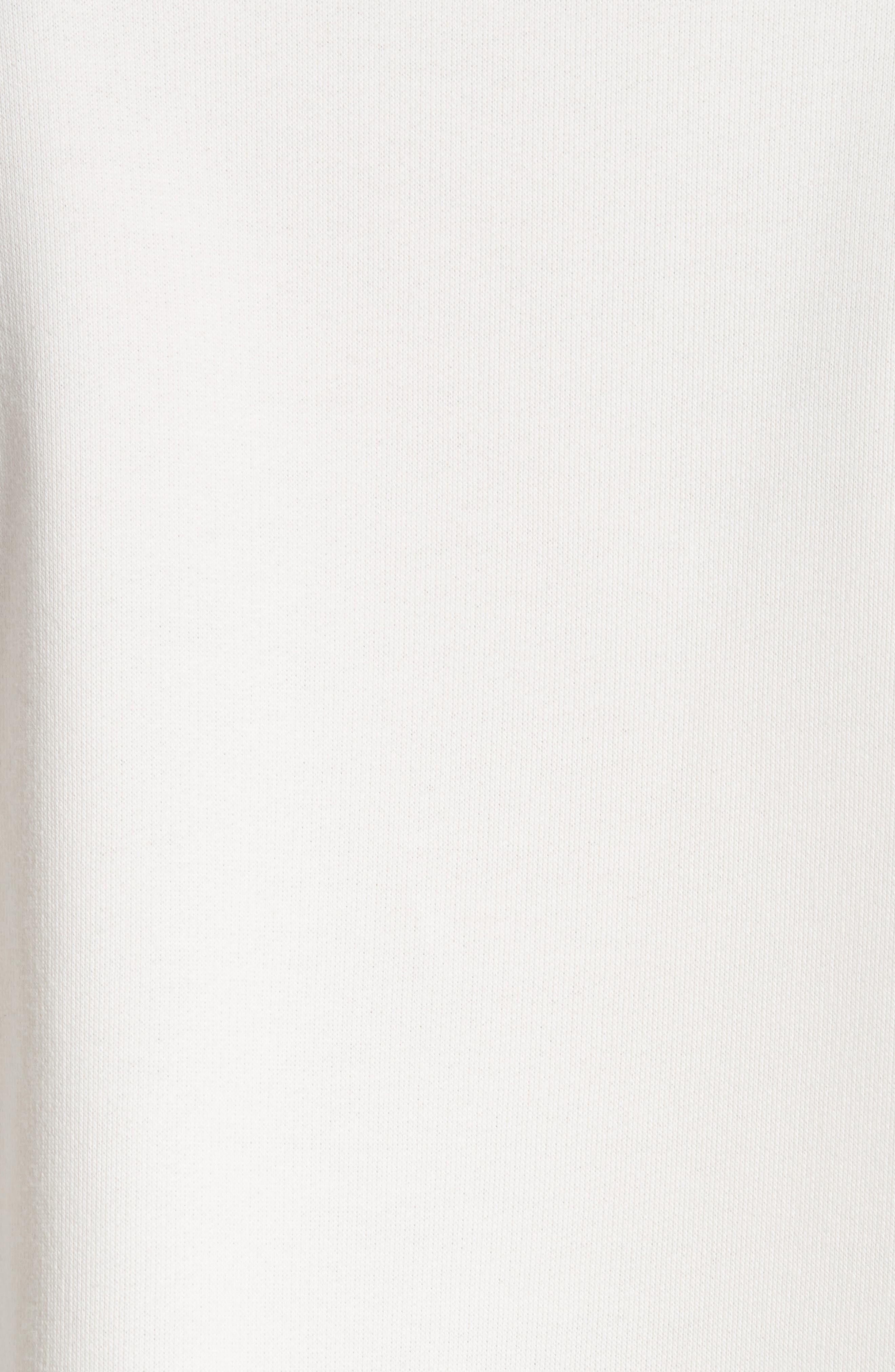 Asymmetrical Cotton Sweatshirt,                             Alternate thumbnail 6, color,                             Ivory
