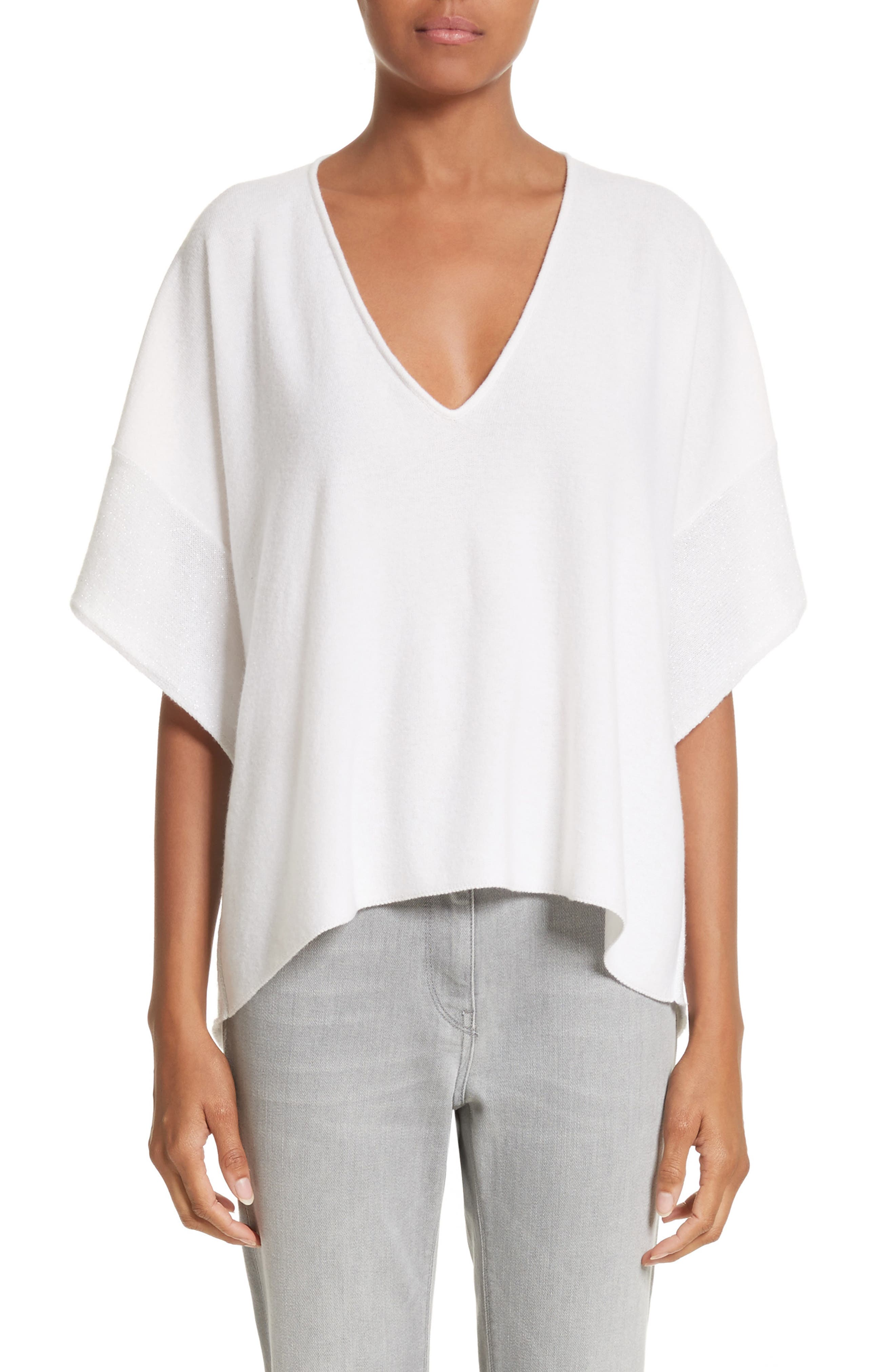 Women's White Short Sleeve Sweaters | Nordstrom