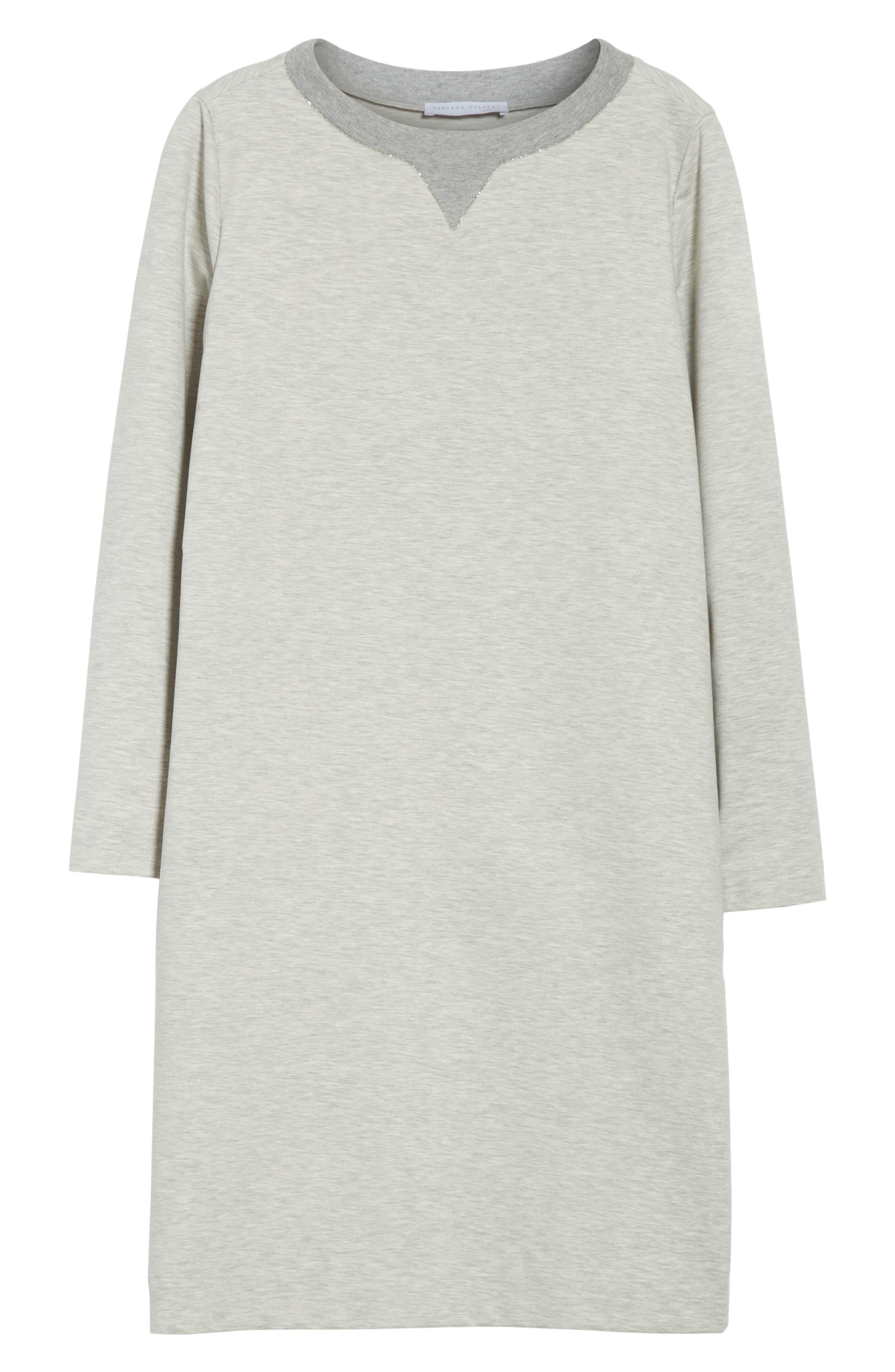Alternate Image 6  - Fabiana Filippi Rodier Jersey Sweatshirt Dress