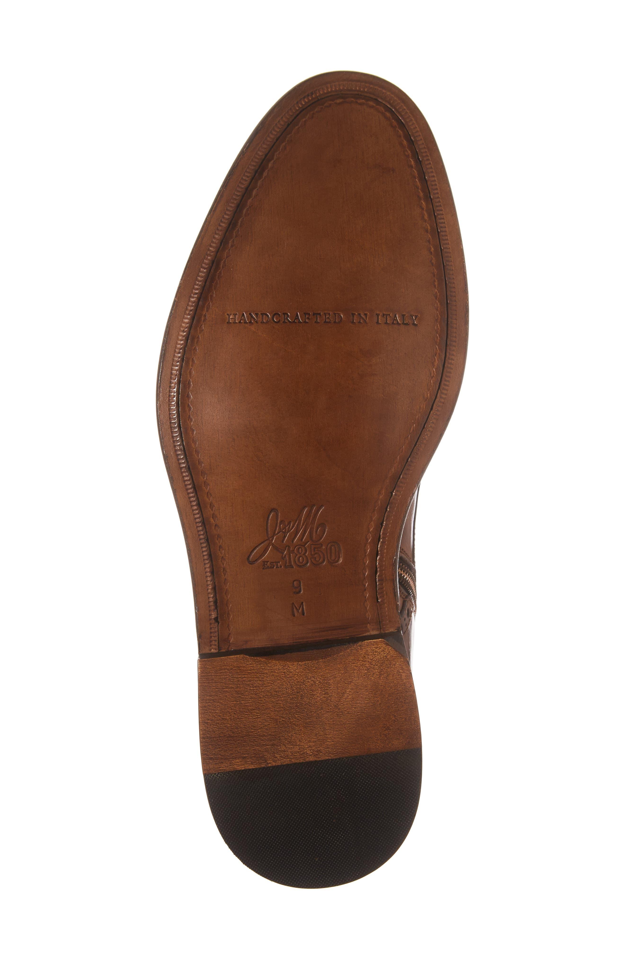 Bryson Cap Toe Boot,                             Alternate thumbnail 6, color,                             Mahogany Leather