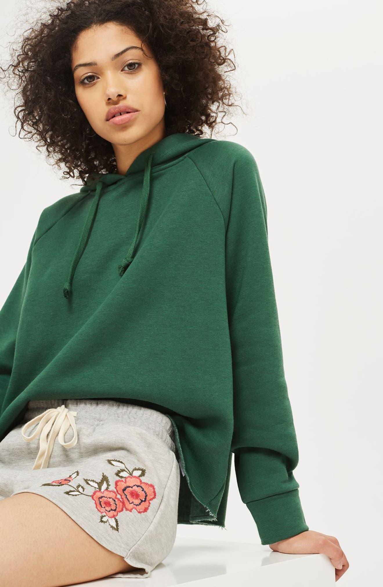 Alternate Image 4  - Topshop Floral Embroidered Lounge Shorts
