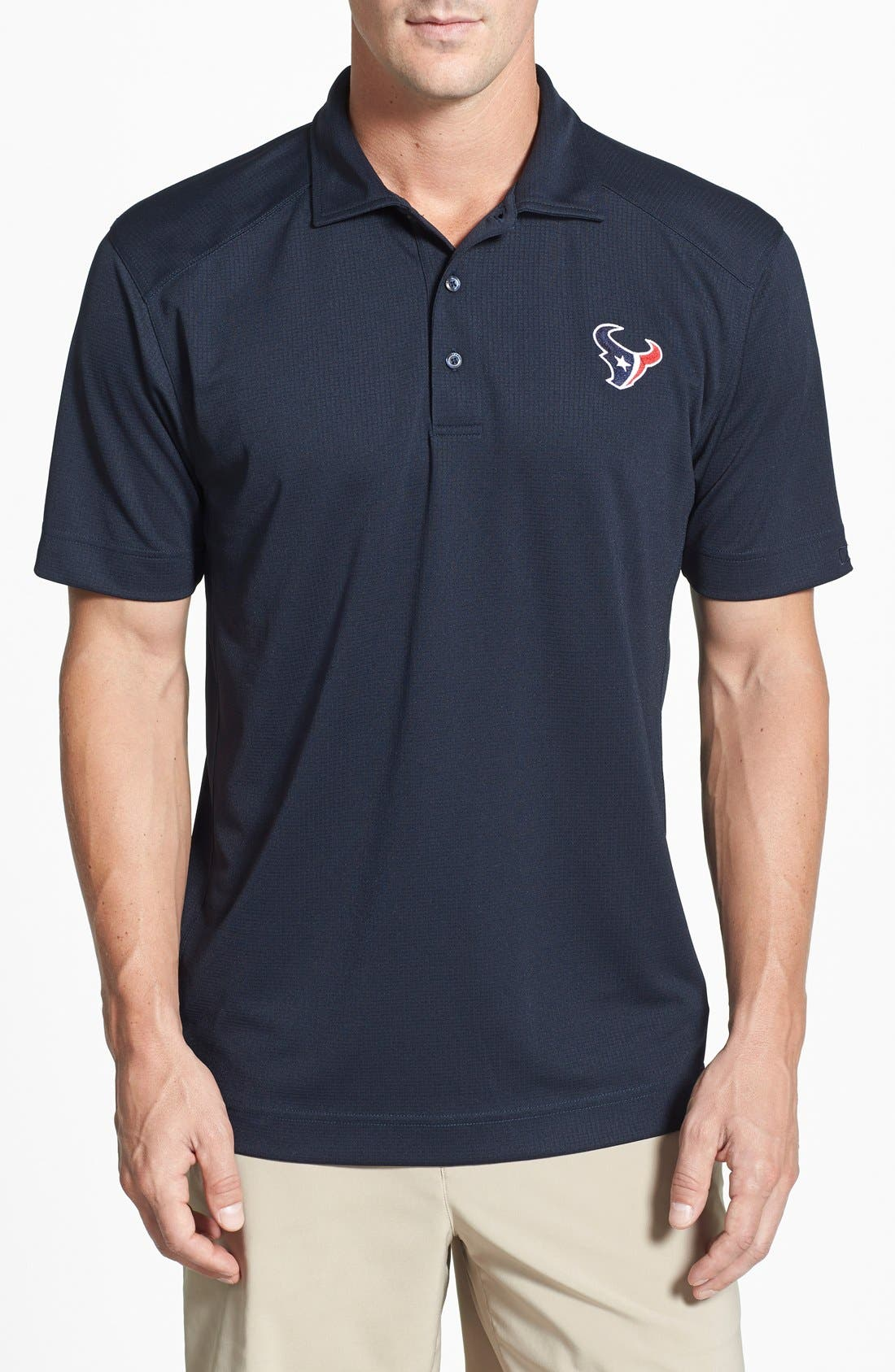 Cutter & Buck Houston Texans - Genre DryTec Moisture Wicking Polo
