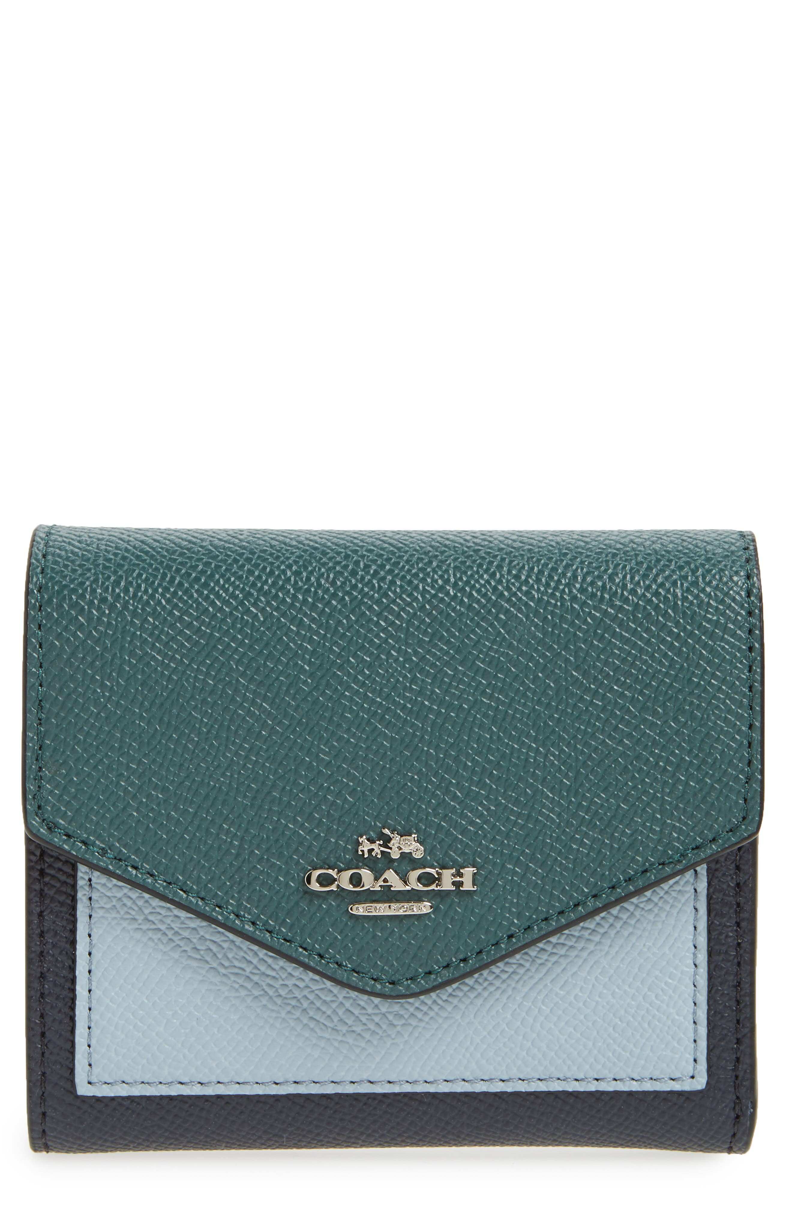 COACH Small Colorblock Calfskin Leather Wallet