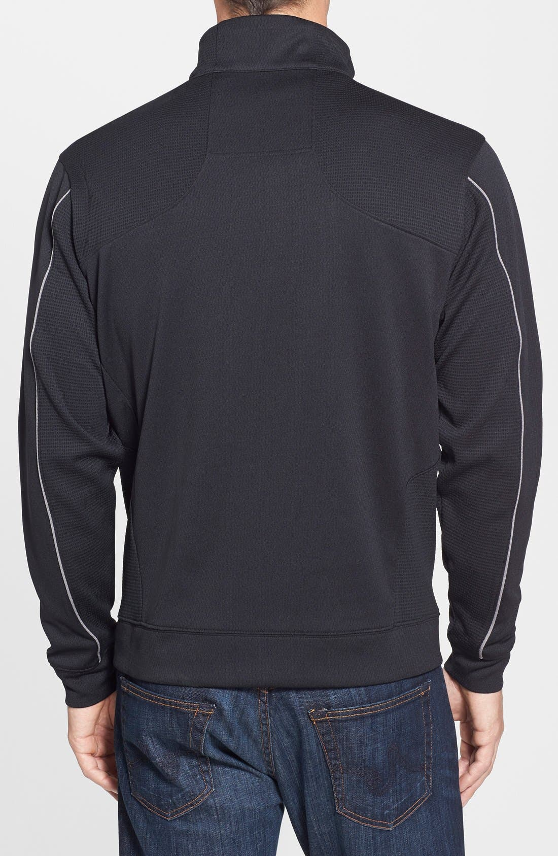 Indianapolis Colts - Edge DryTec Moisture Wicking Half Zip Pullover,                             Alternate thumbnail 2, color,                             Black