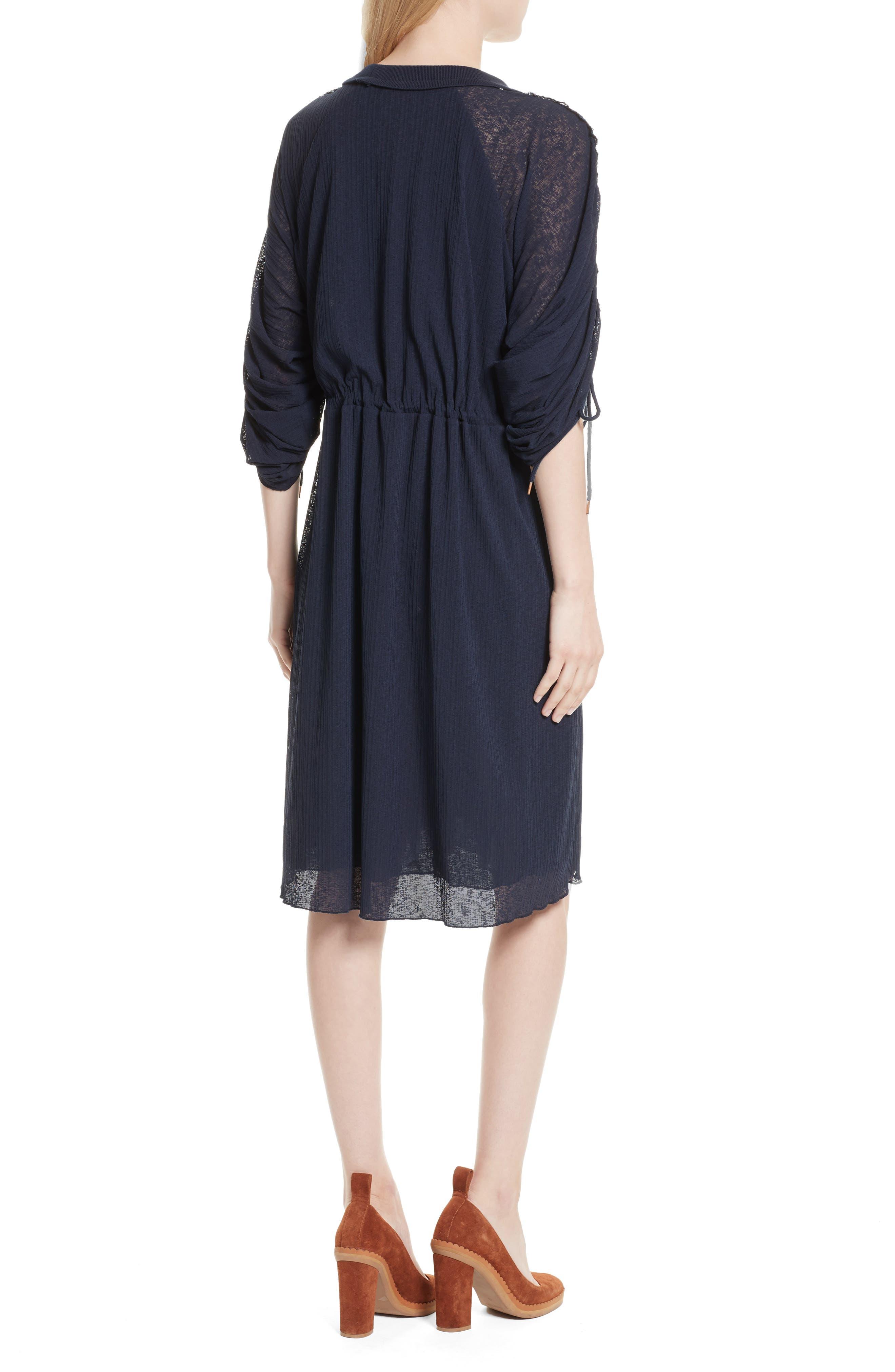 Knit Raglan Dress,                             Alternate thumbnail 2, color,                             Ultramarine