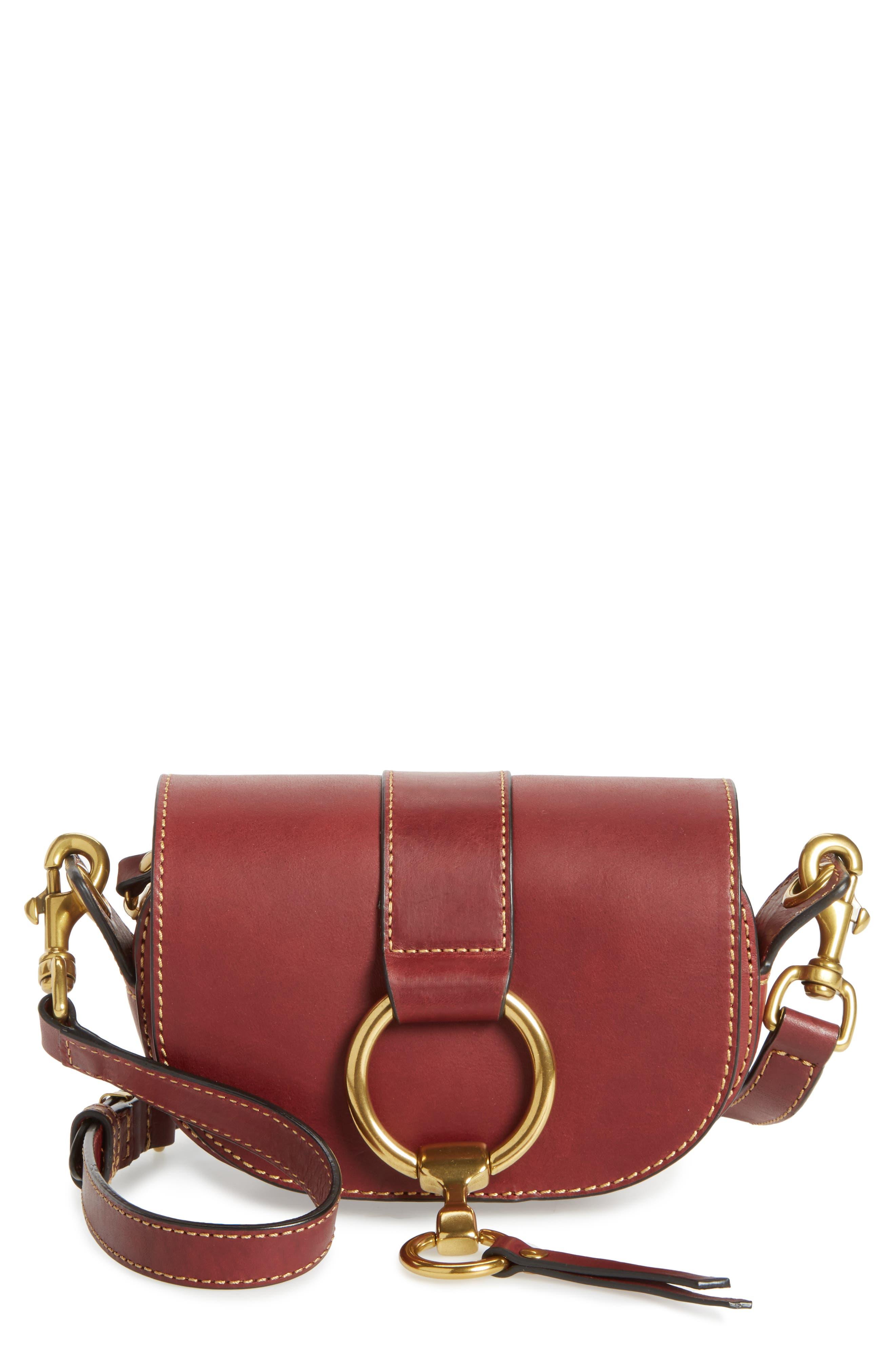 Frye Mini Ilana Harness Leather Saddle Bag