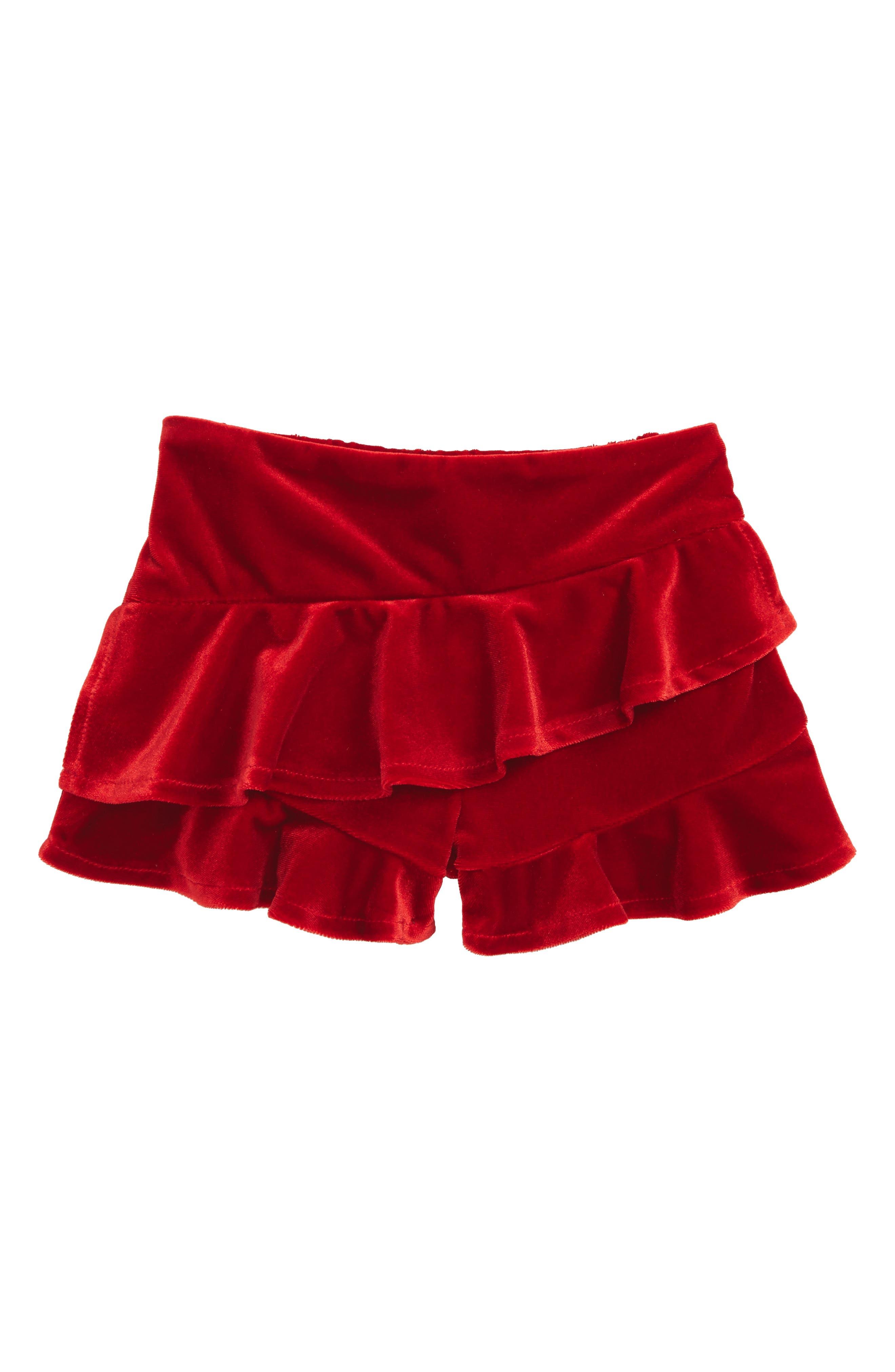 Alternate Image 1 Selected - Bardot Junior Velour Skort (Baby Girls & Toddler Girls)