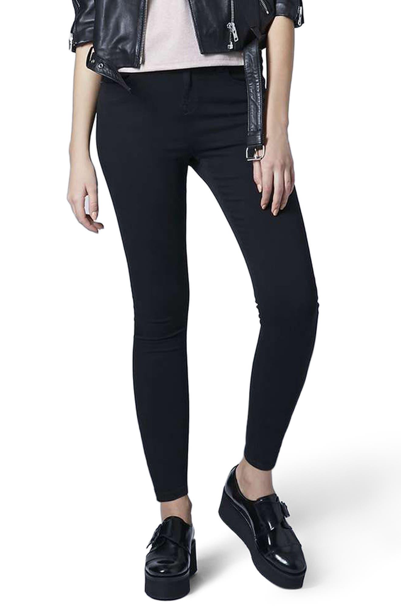 Jamie Ankle Skinny Jeans,                             Main thumbnail 1, color,                             Black
