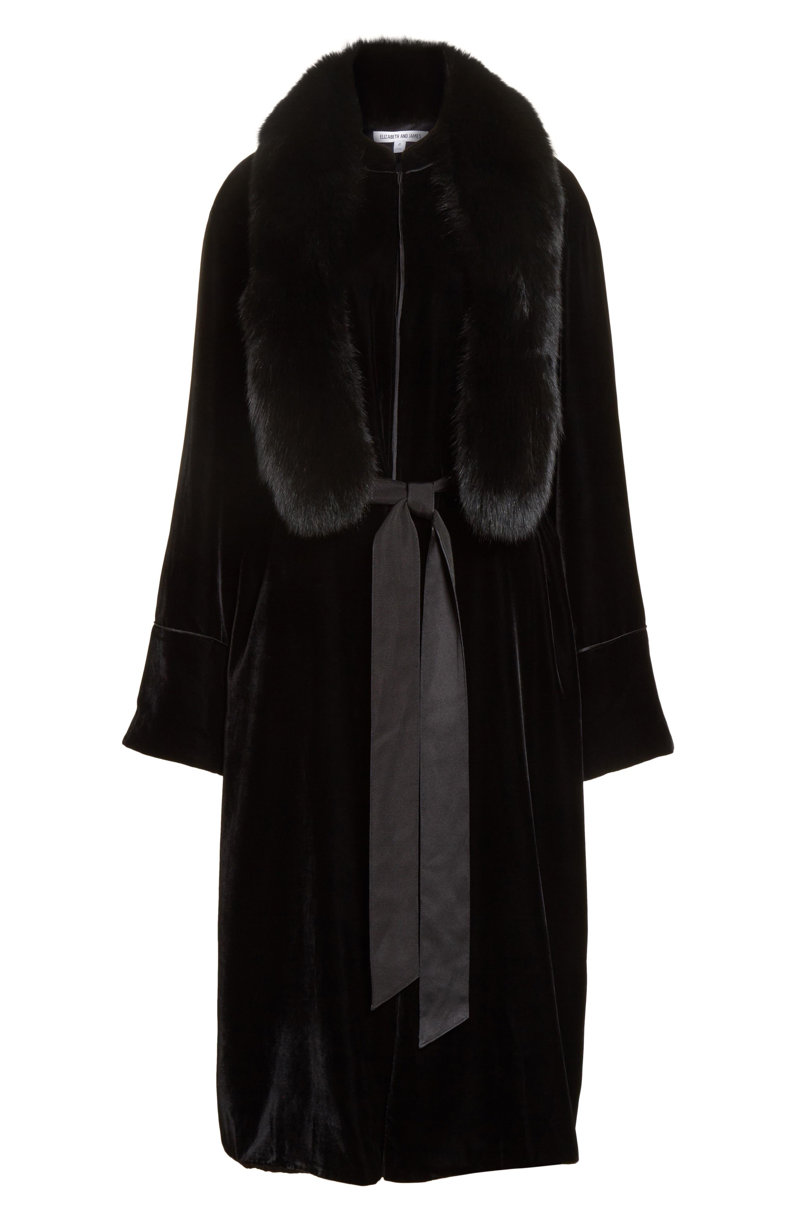 Mitzi Velvet Coat,                             Alternate thumbnail 6, color,                             Black
