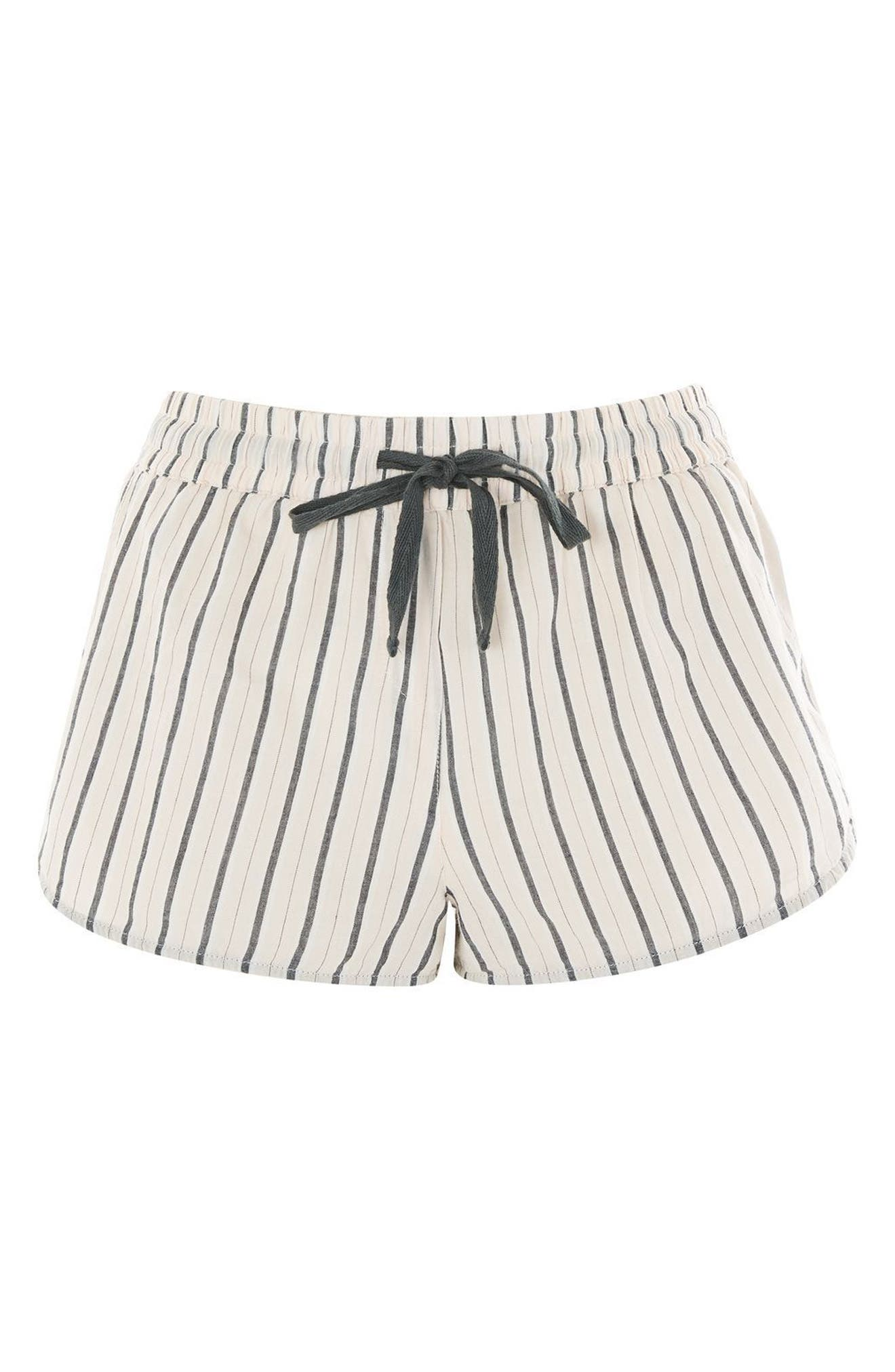 Main Image - Topshop Stripe Pajama Shorts