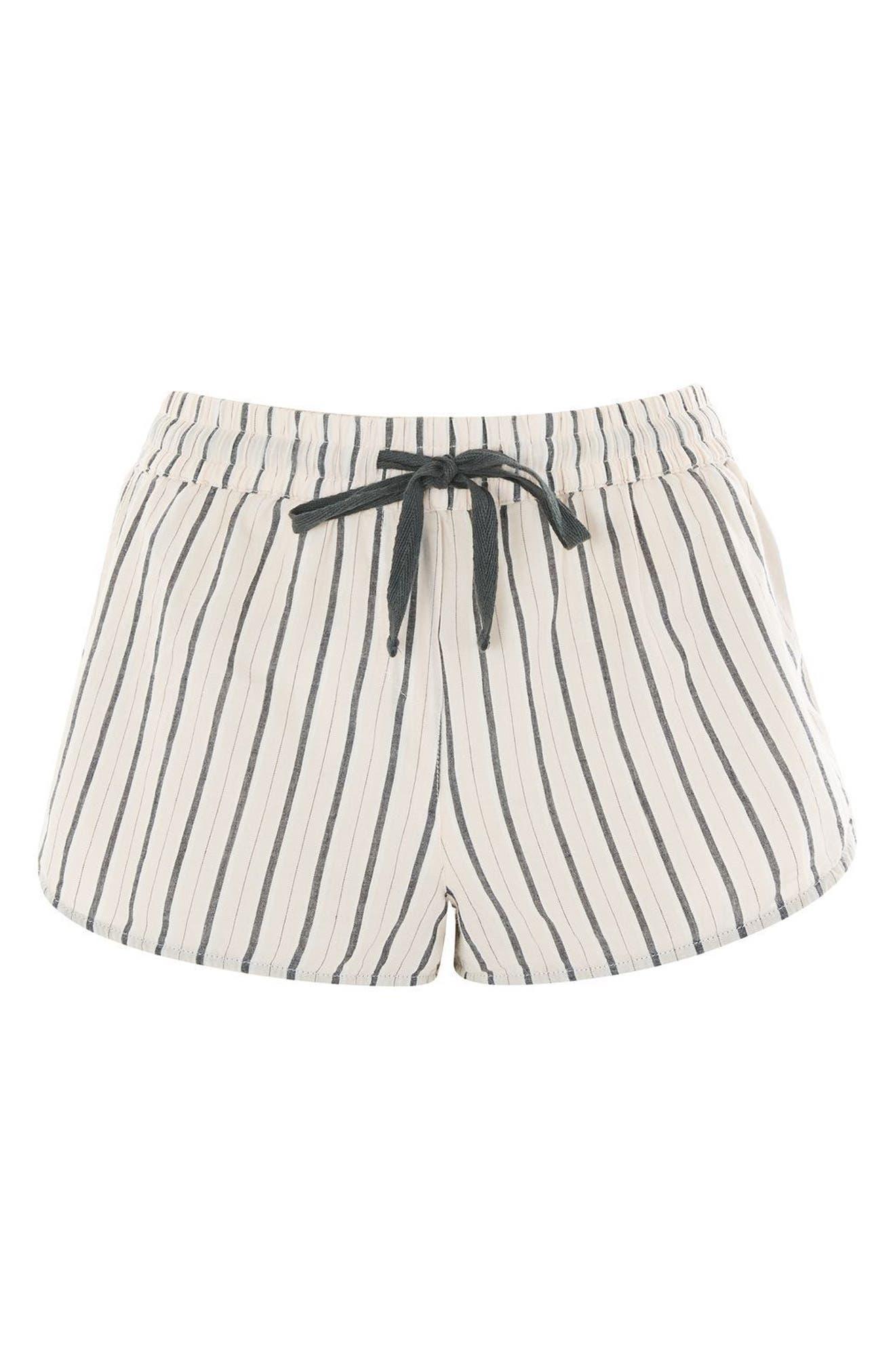 Stripe Pajama Shorts,                         Main,                         color, Pink Multi