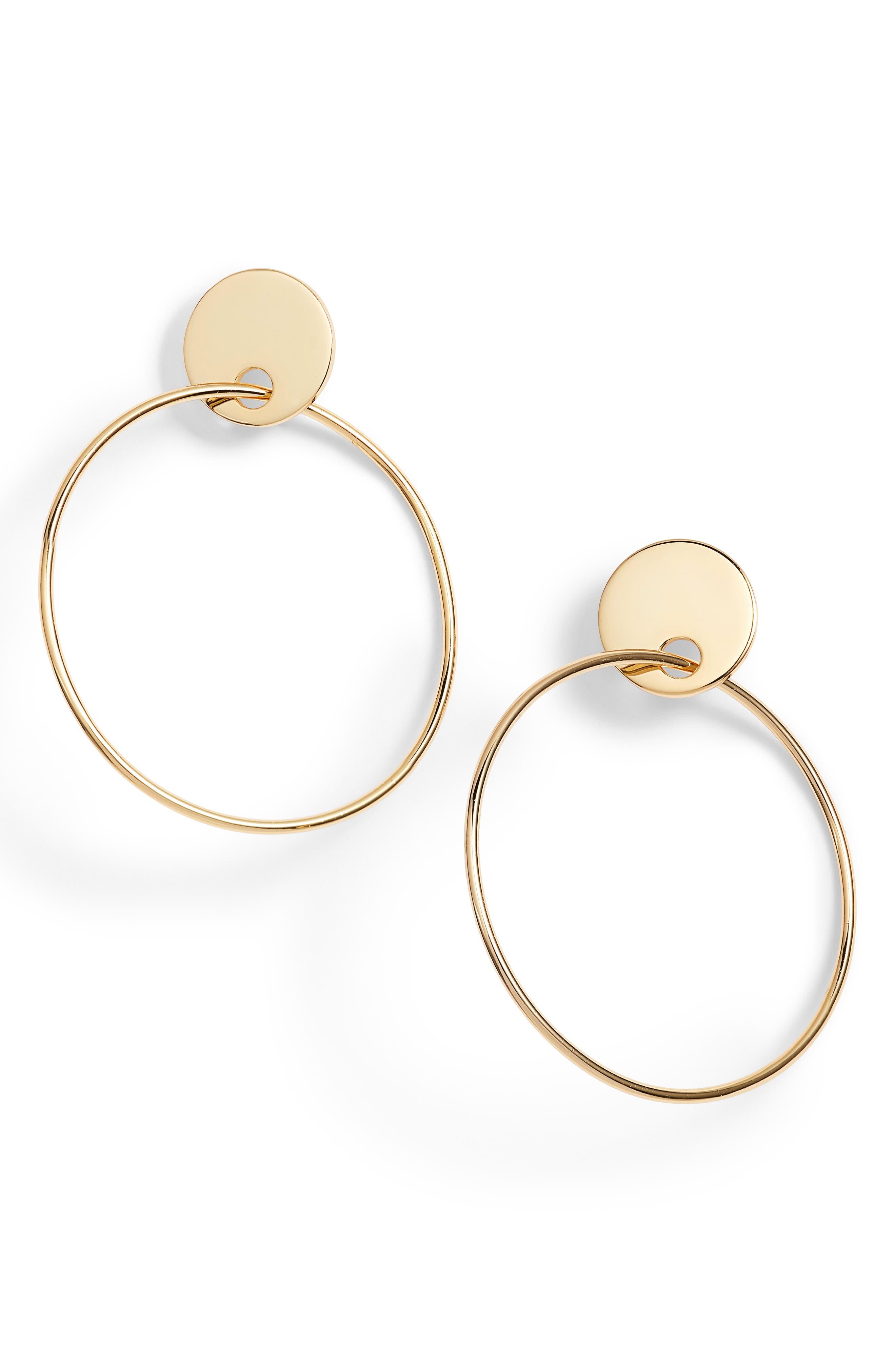 Imogen Hoop Earrings,                             Main thumbnail 1, color,                             Gold