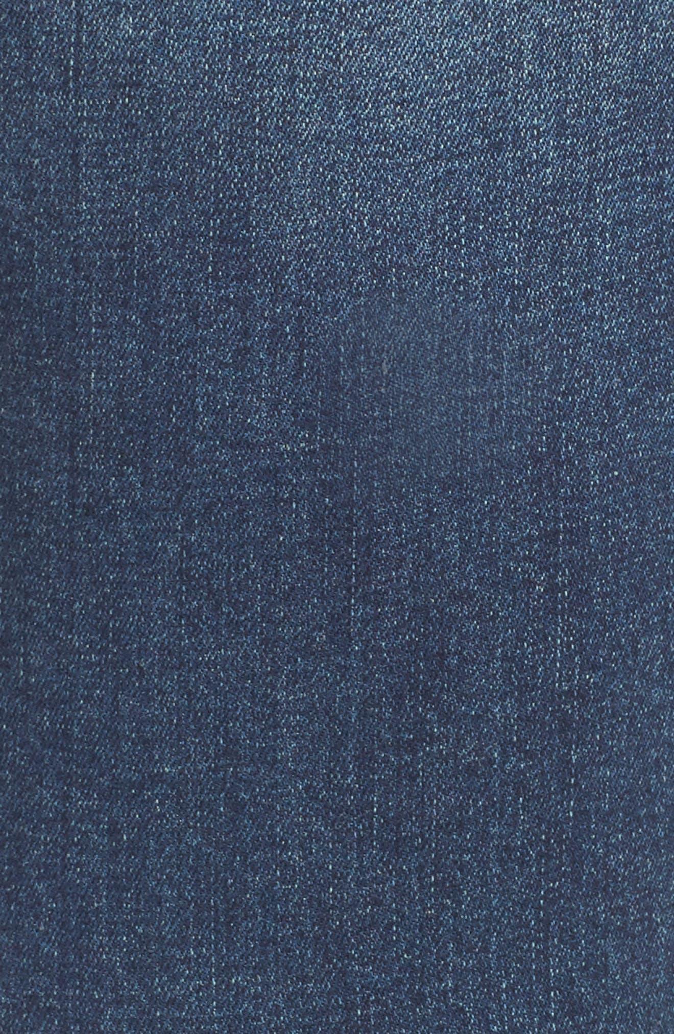 Alternate Image 5  - Seven7 Distressed Raw Hem Skinny Jeans (Melbourne) (Plus Size)
