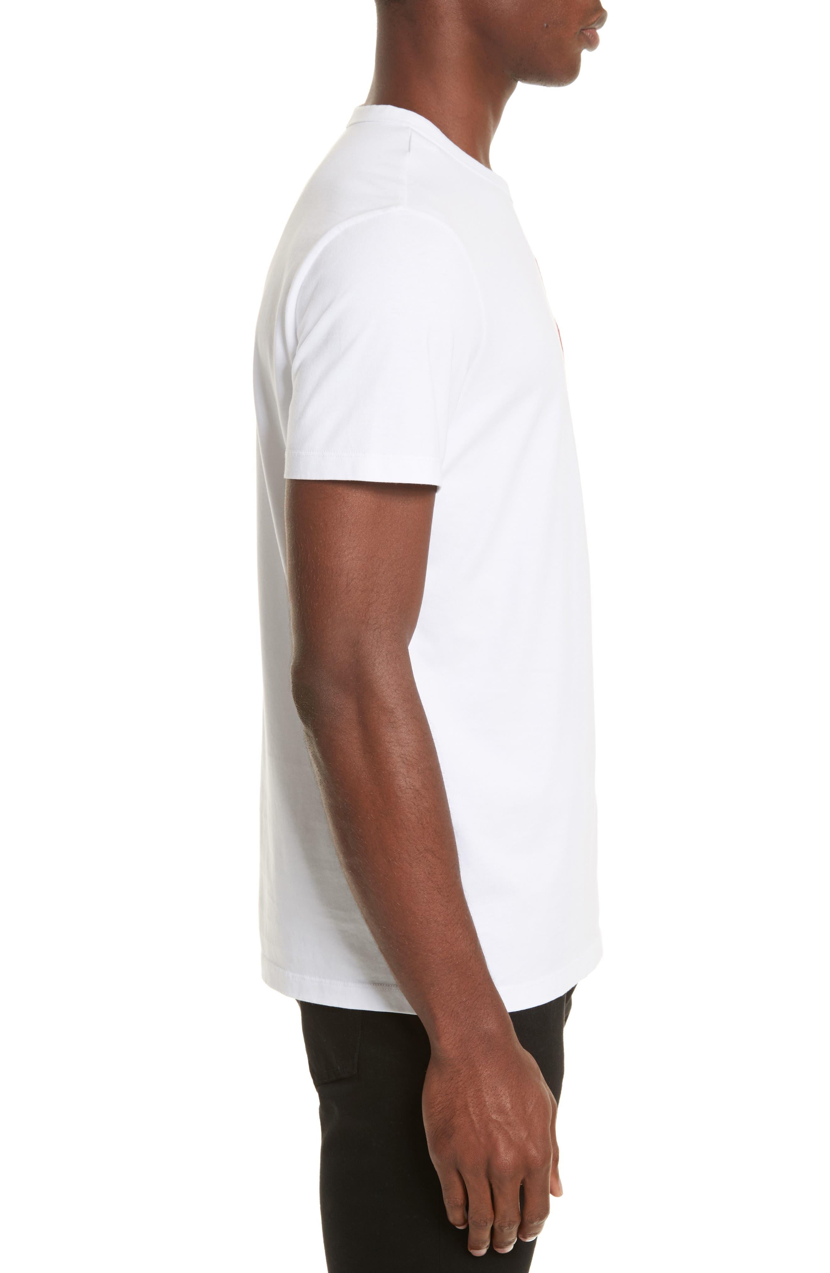 Embroidered Koi Fish T-Shirt,                             Alternate thumbnail 3, color,                             White