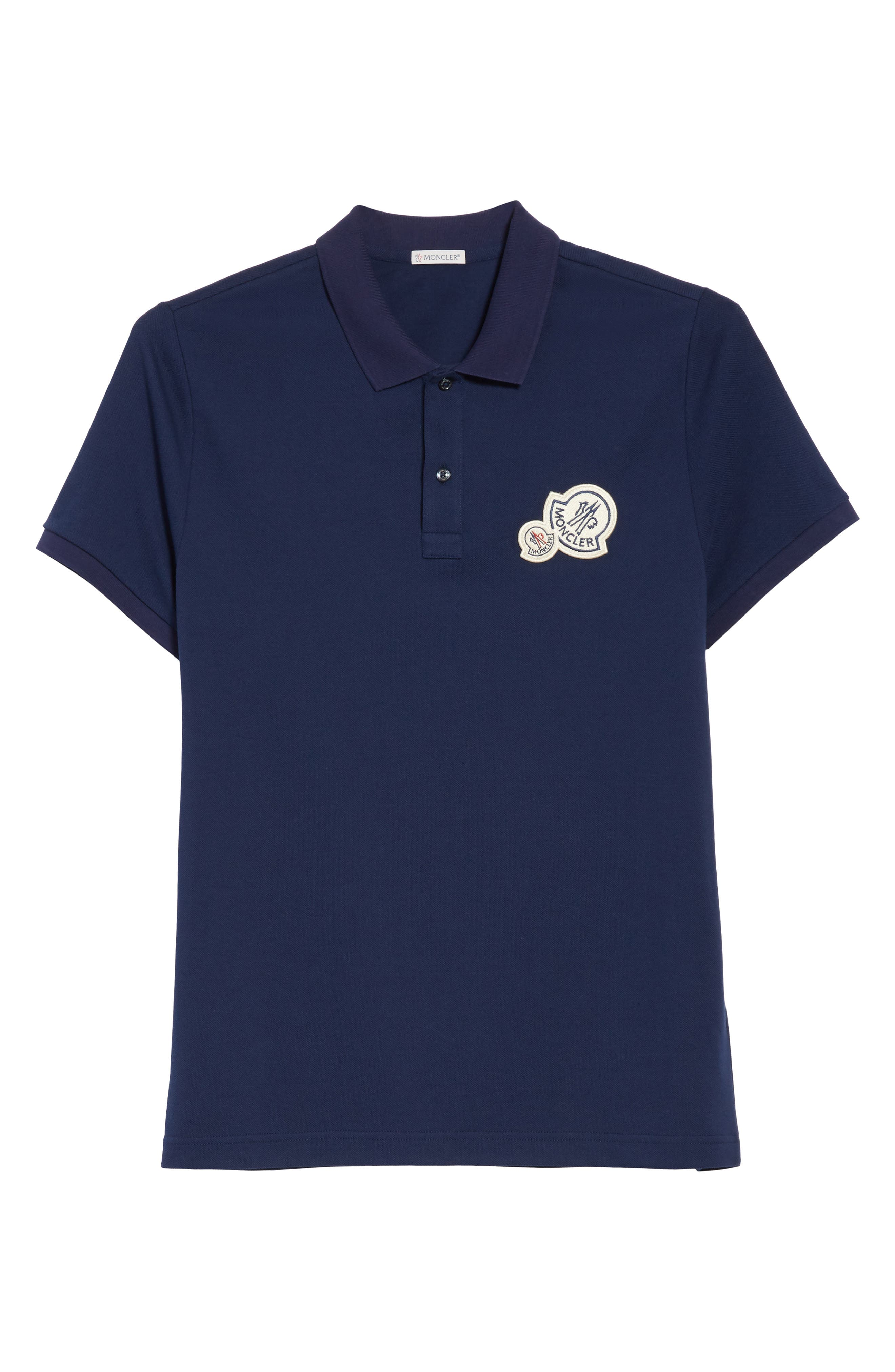 Alternate Image 6  - Moncler Dual Logo Polo Shirt