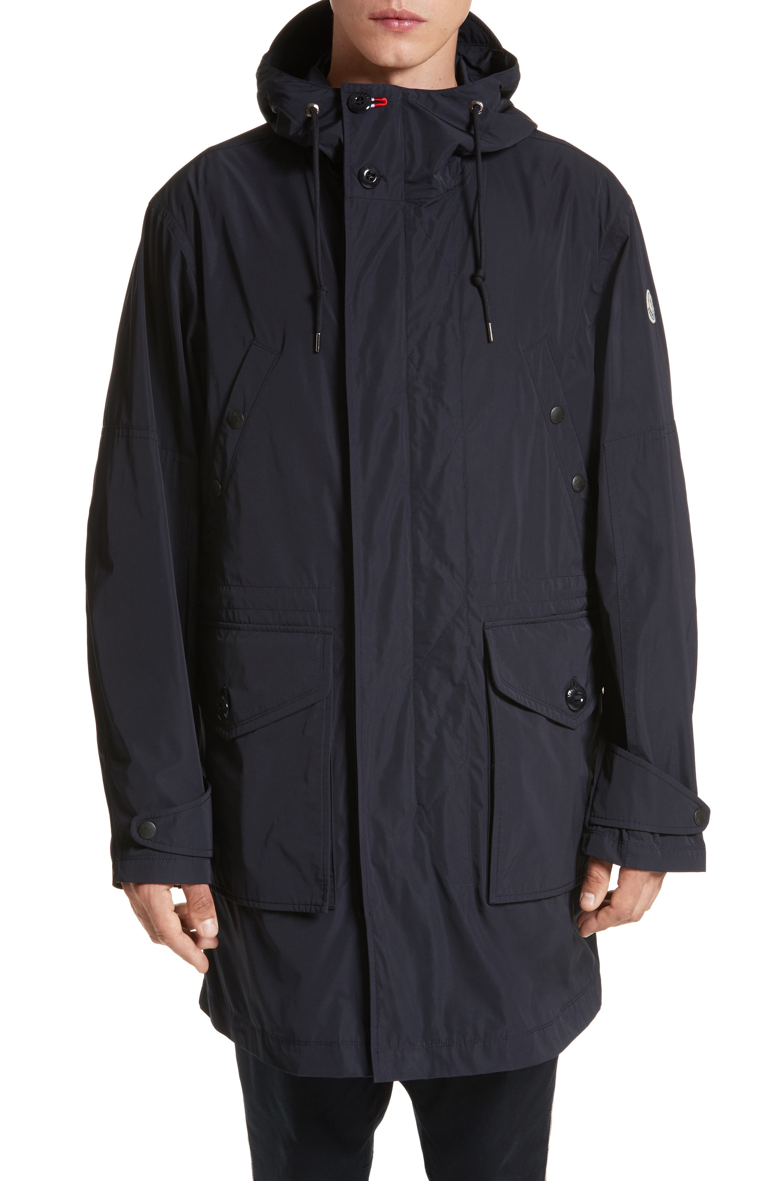 Guiers Long Raincoat,                             Main thumbnail 1, color,                             Navy
