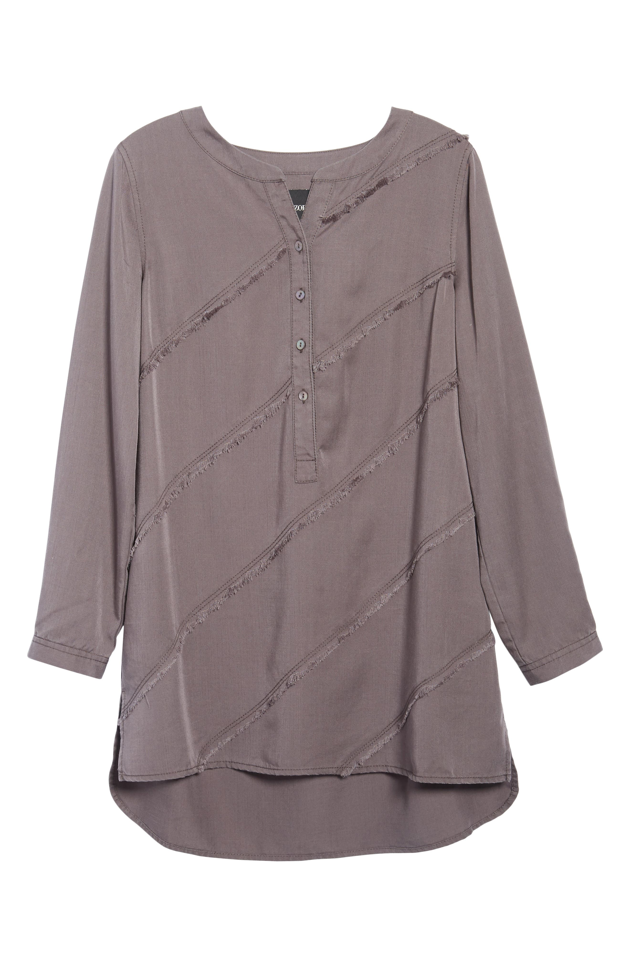 Tranquil Tunic Top,                             Alternate thumbnail 6, color,                             Warm Grey