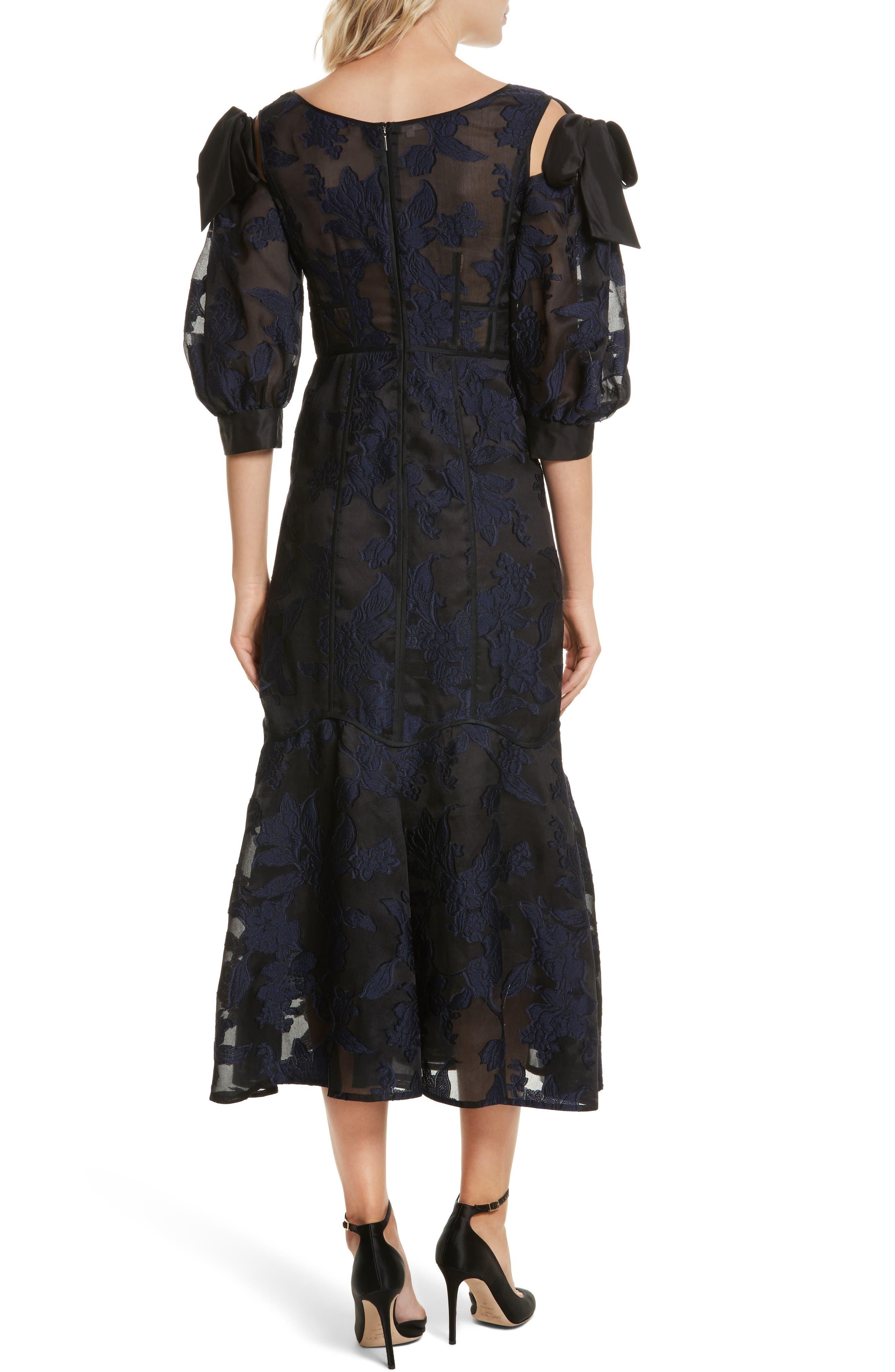 Alternate Image 2  - Rebecca Taylor Floral Organza Maxi Dress