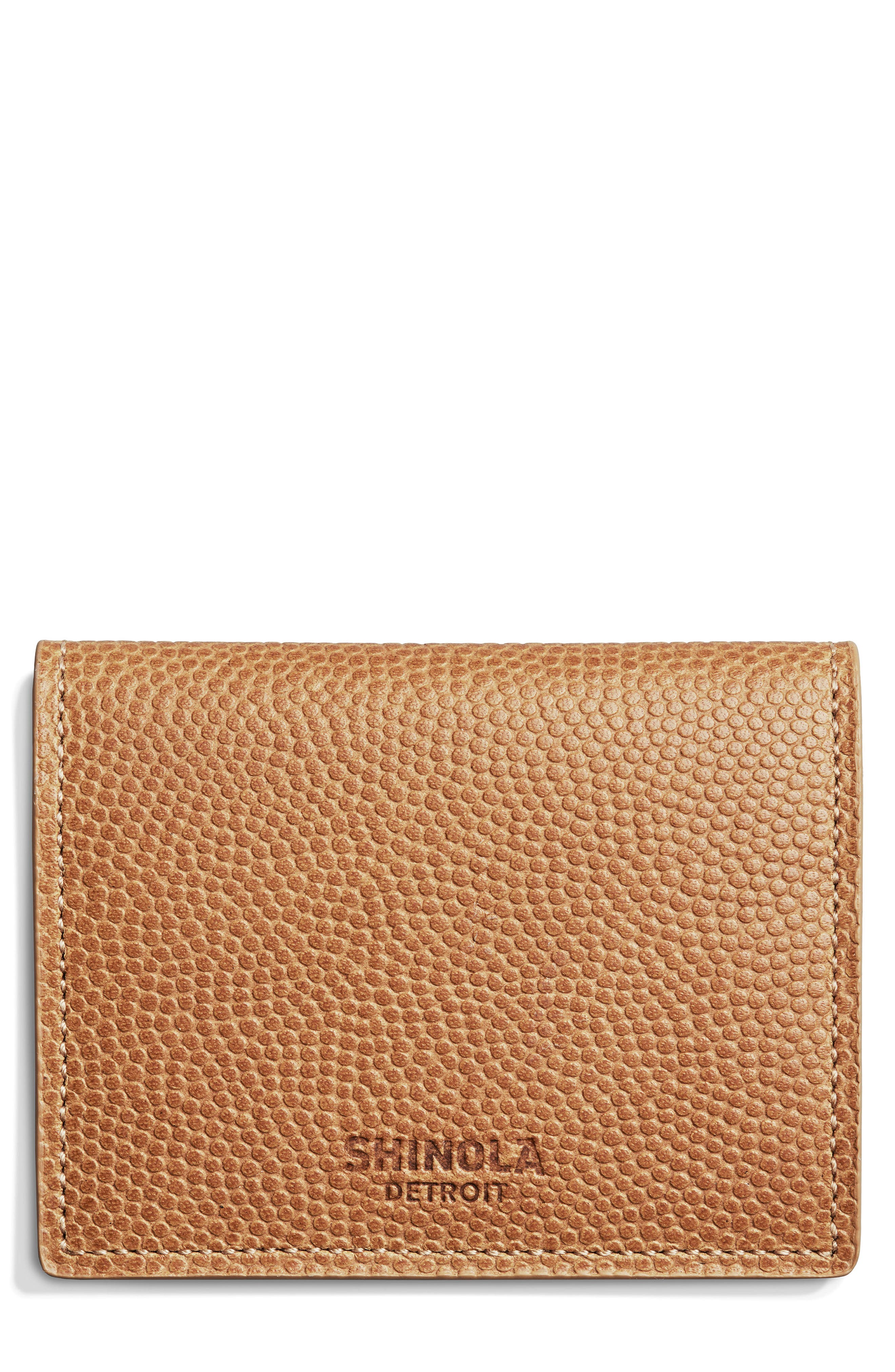 Leather Wallet,                         Main,                         color, Camel