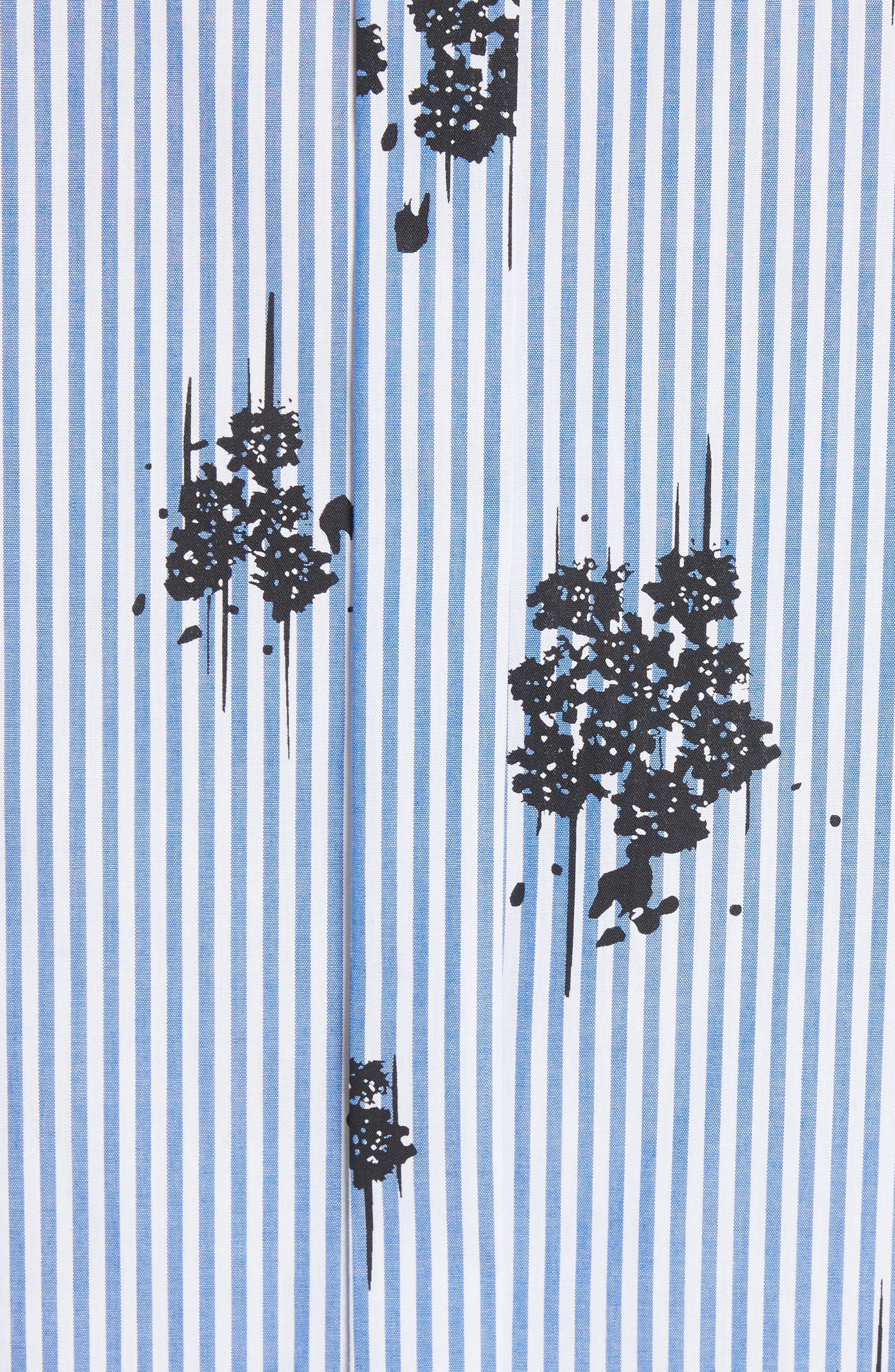 2-in-1 Ruffled Shirtdress,                             Alternate thumbnail 6, color,                             Blue