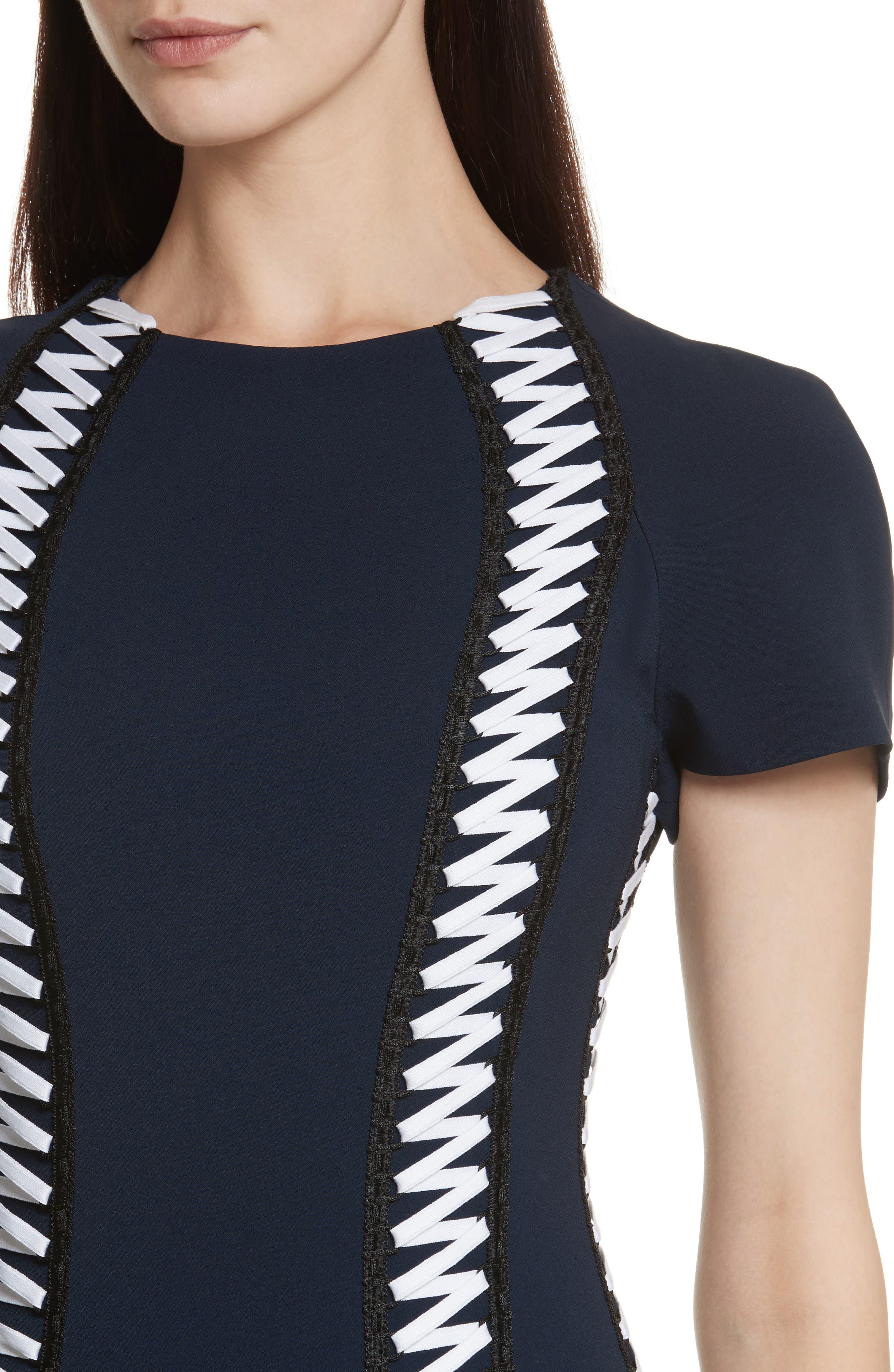 Alternate Image 4  - Jonathan Simkhai Lace-Up Crepe Dress
