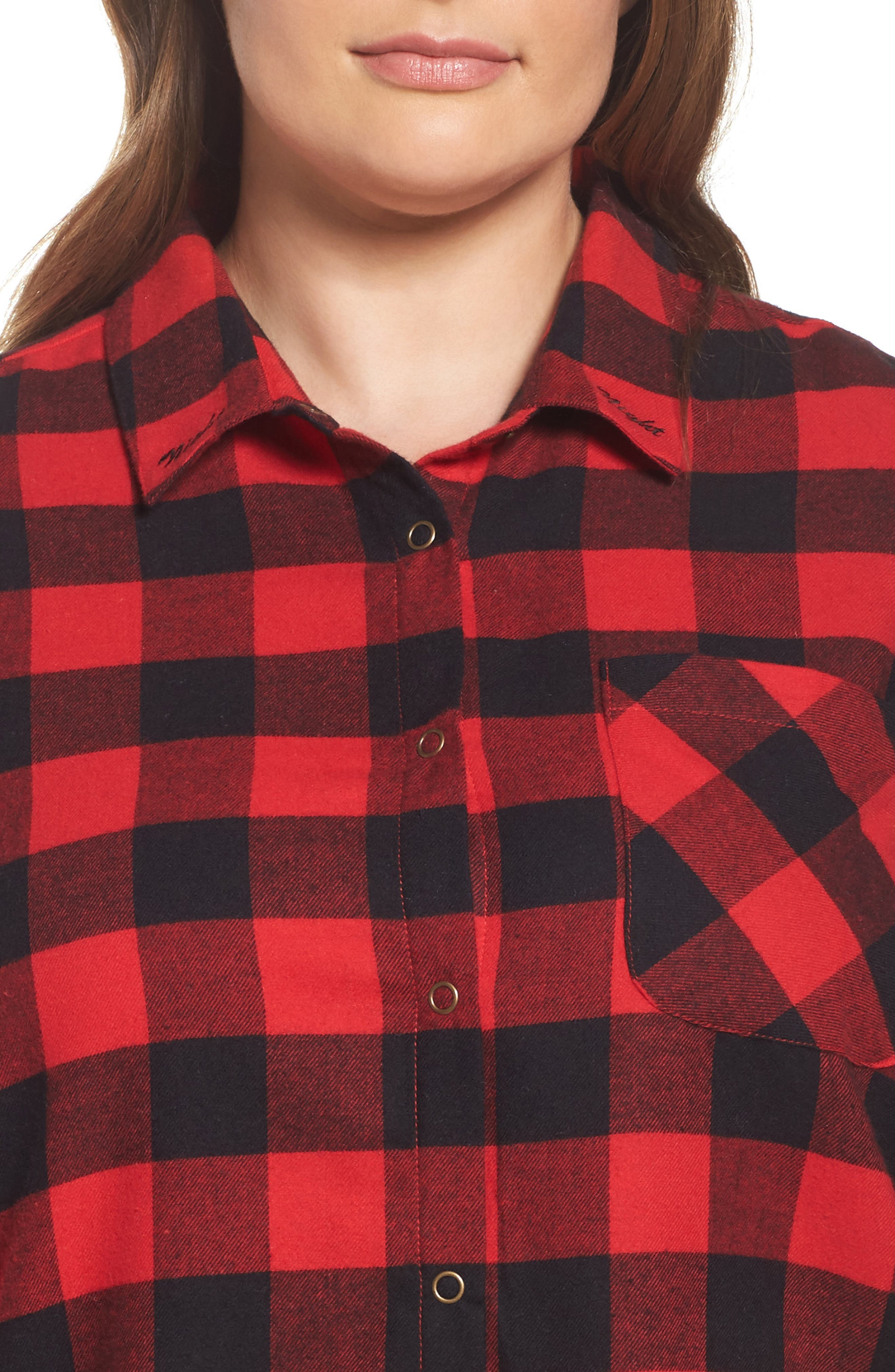 Flannel Pajamas,                             Alternate thumbnail 6, color,                             Red Pepper Buffalo Check
