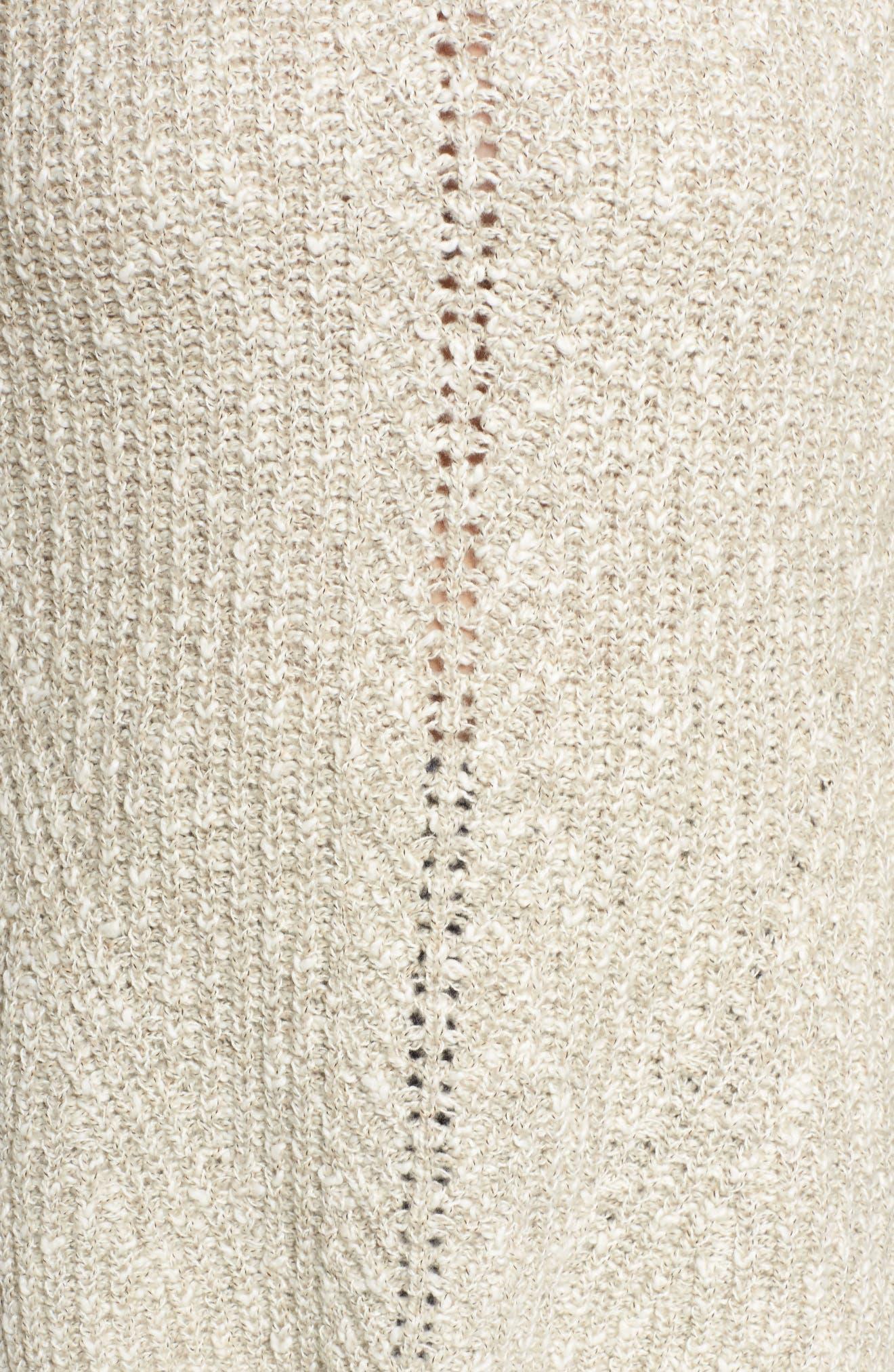 Open Stitch Sweater,                             Alternate thumbnail 5, color,                             Natural Multi