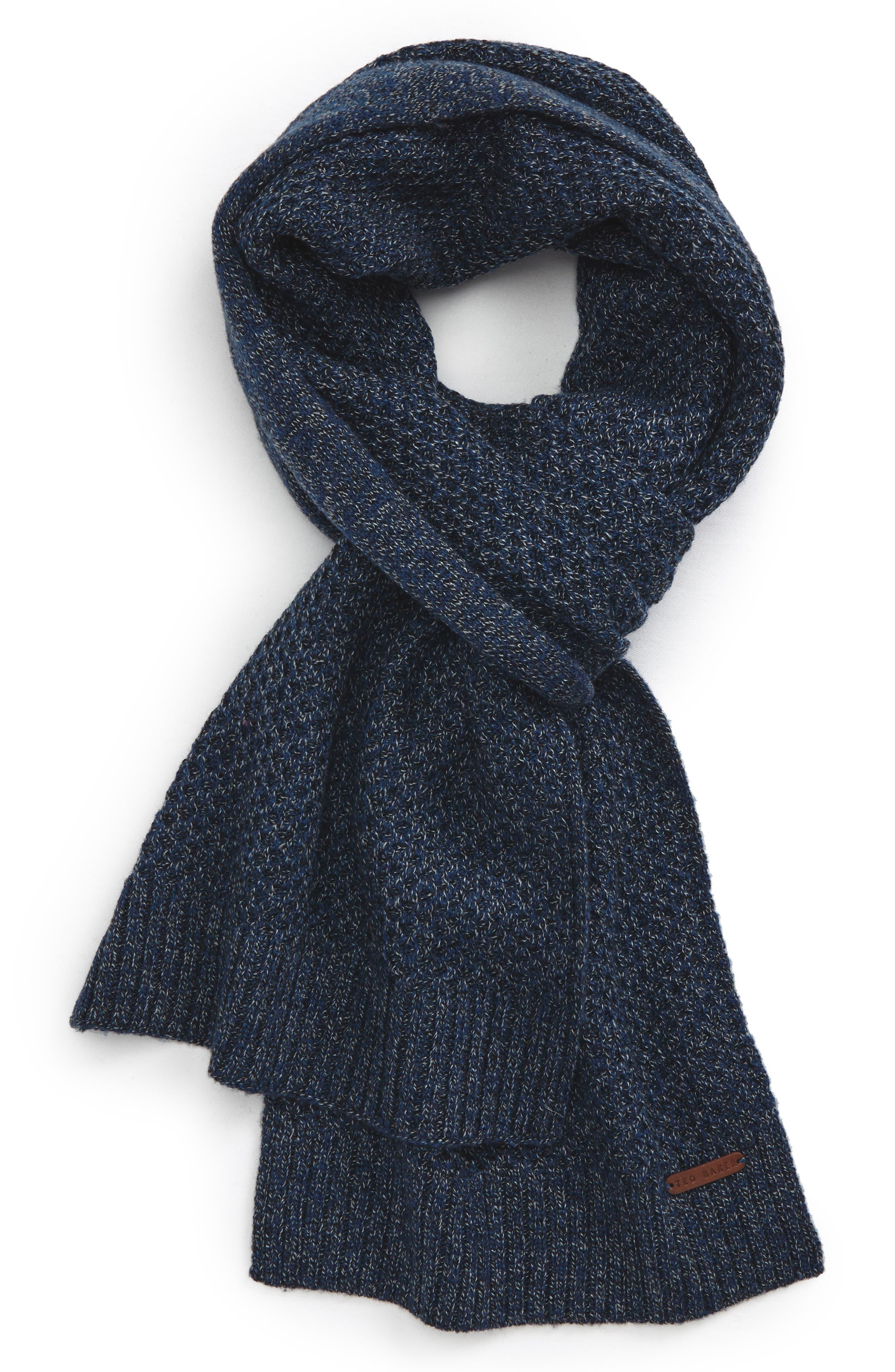 Kapok Wool Blend Scarf,                             Main thumbnail 1, color,                             Teal-Blue