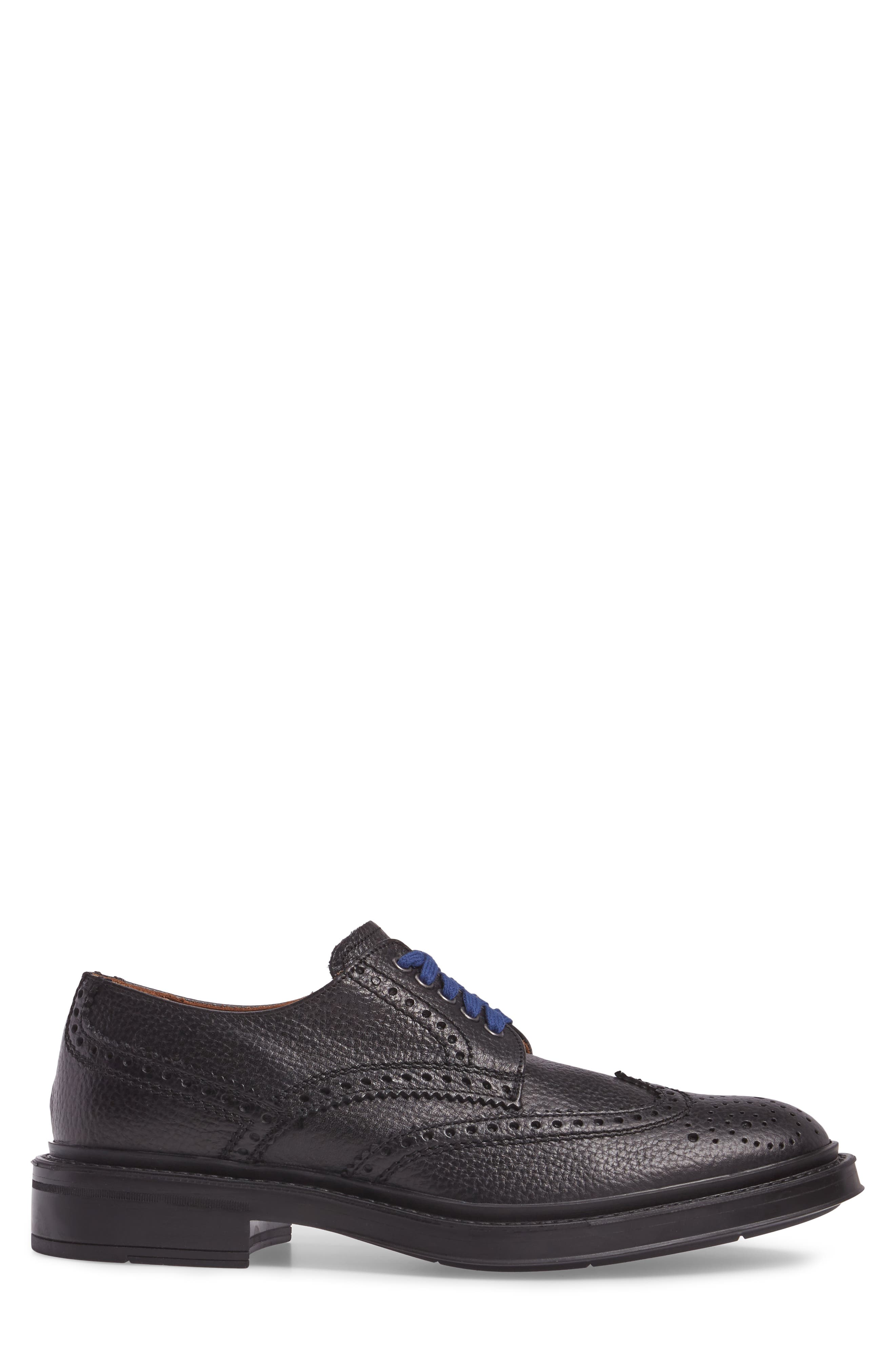 Landon Weatherproof Wingtip,                             Alternate thumbnail 3, color,                             Black