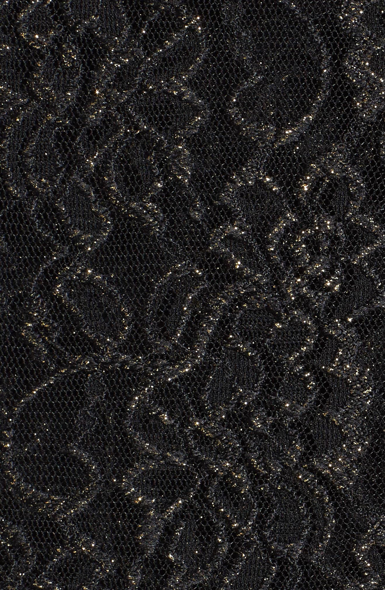 Sequin Lace Twinset,                             Alternate thumbnail 4, color,                             Black/ Gold