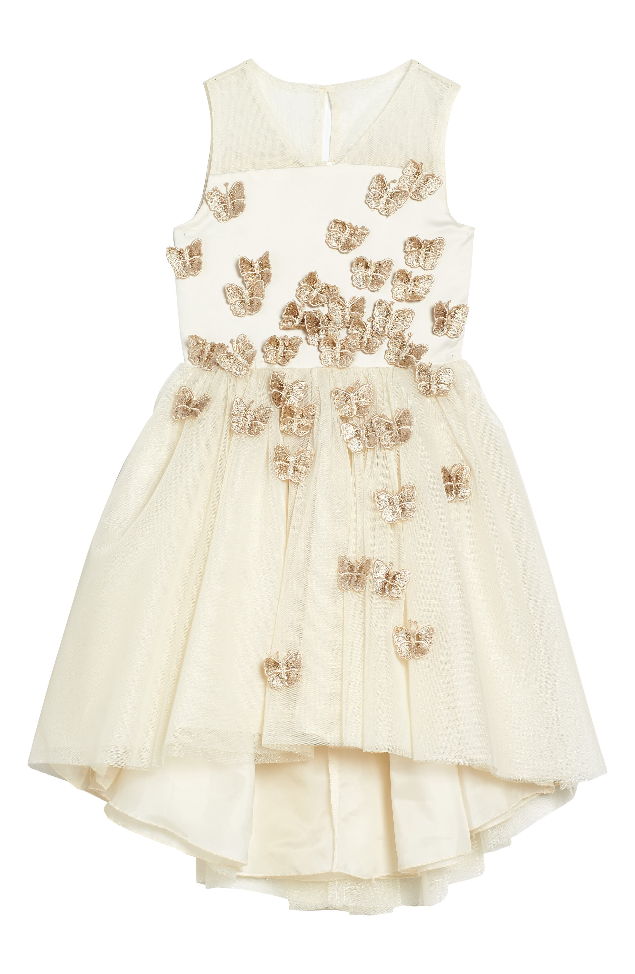 Nanette Lapore Butterfly Dress,                             Main thumbnail 1, color,                             Cream