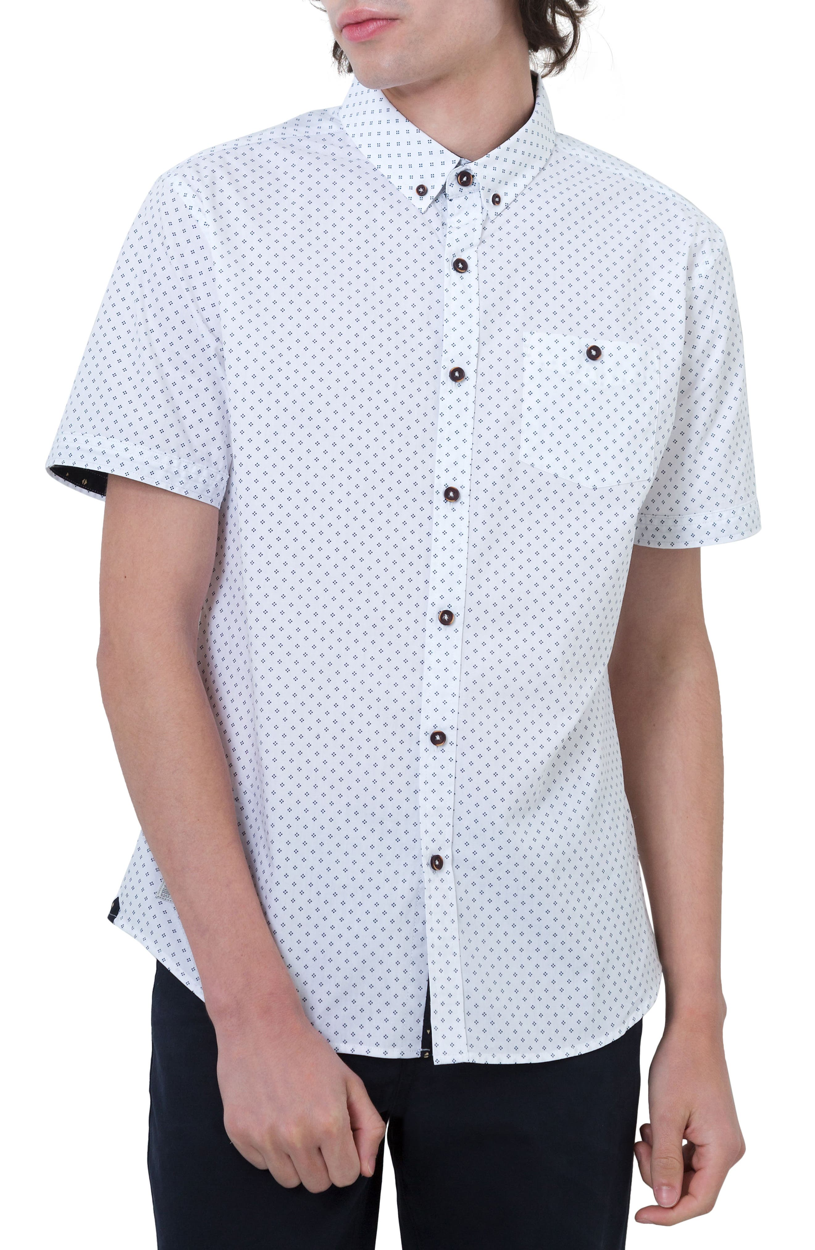 Crash Into Me Woven Shirt,                         Main,                         color, White