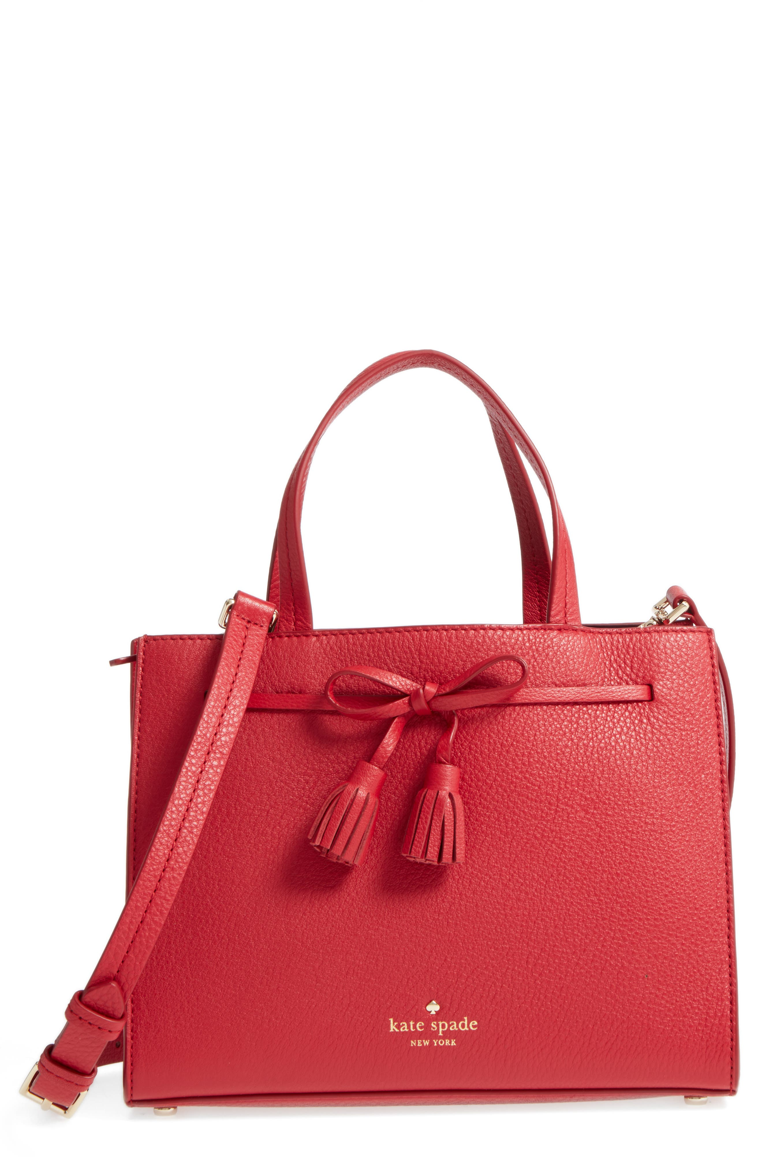 Alternate Image 1 Selected - kate spade new york hayes street small isobel leather satchel