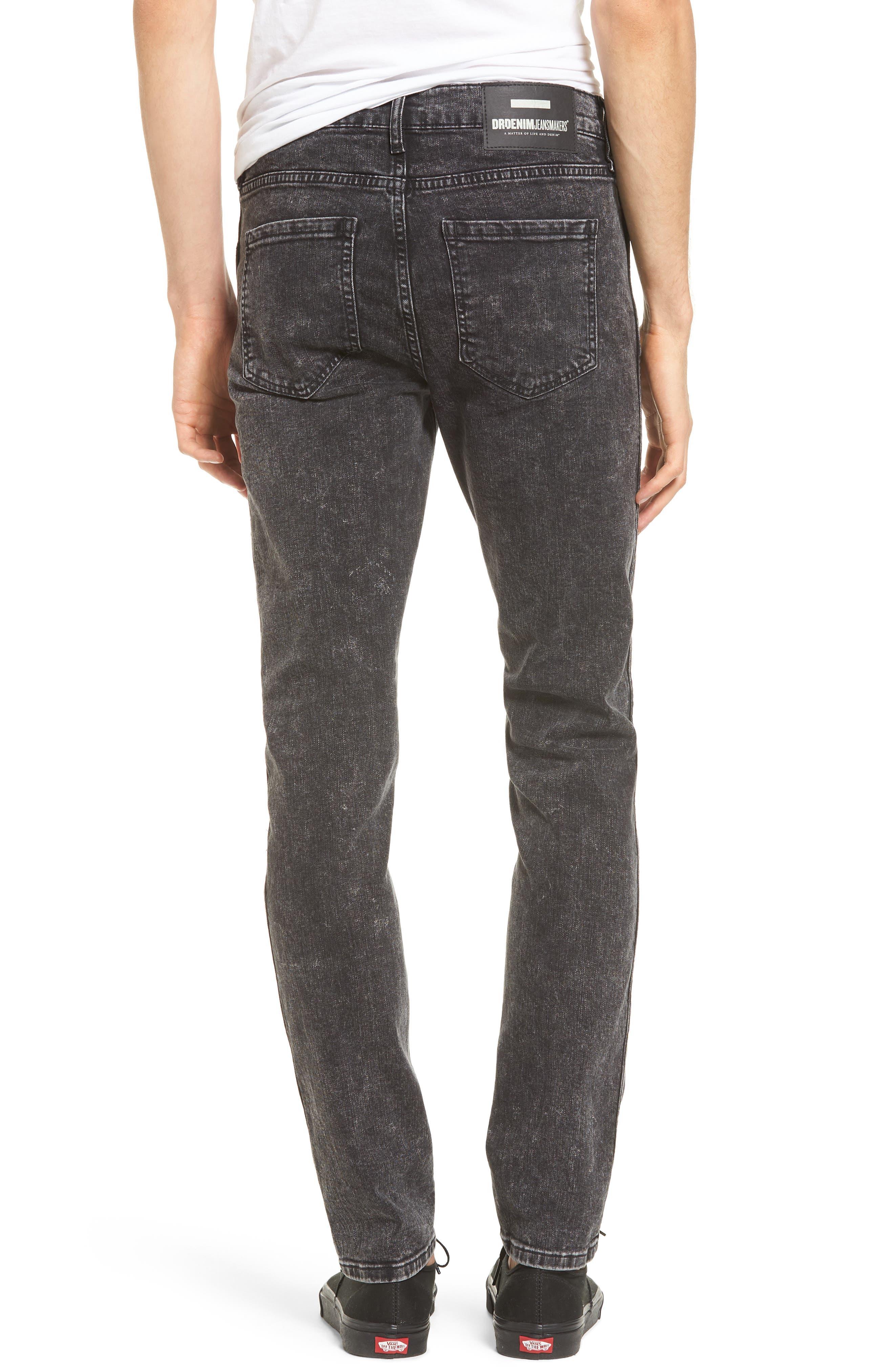 Alternate Image 2  - Dr. Denim Supply Co. Snap Skinny Fit Jeans (Acid Black)