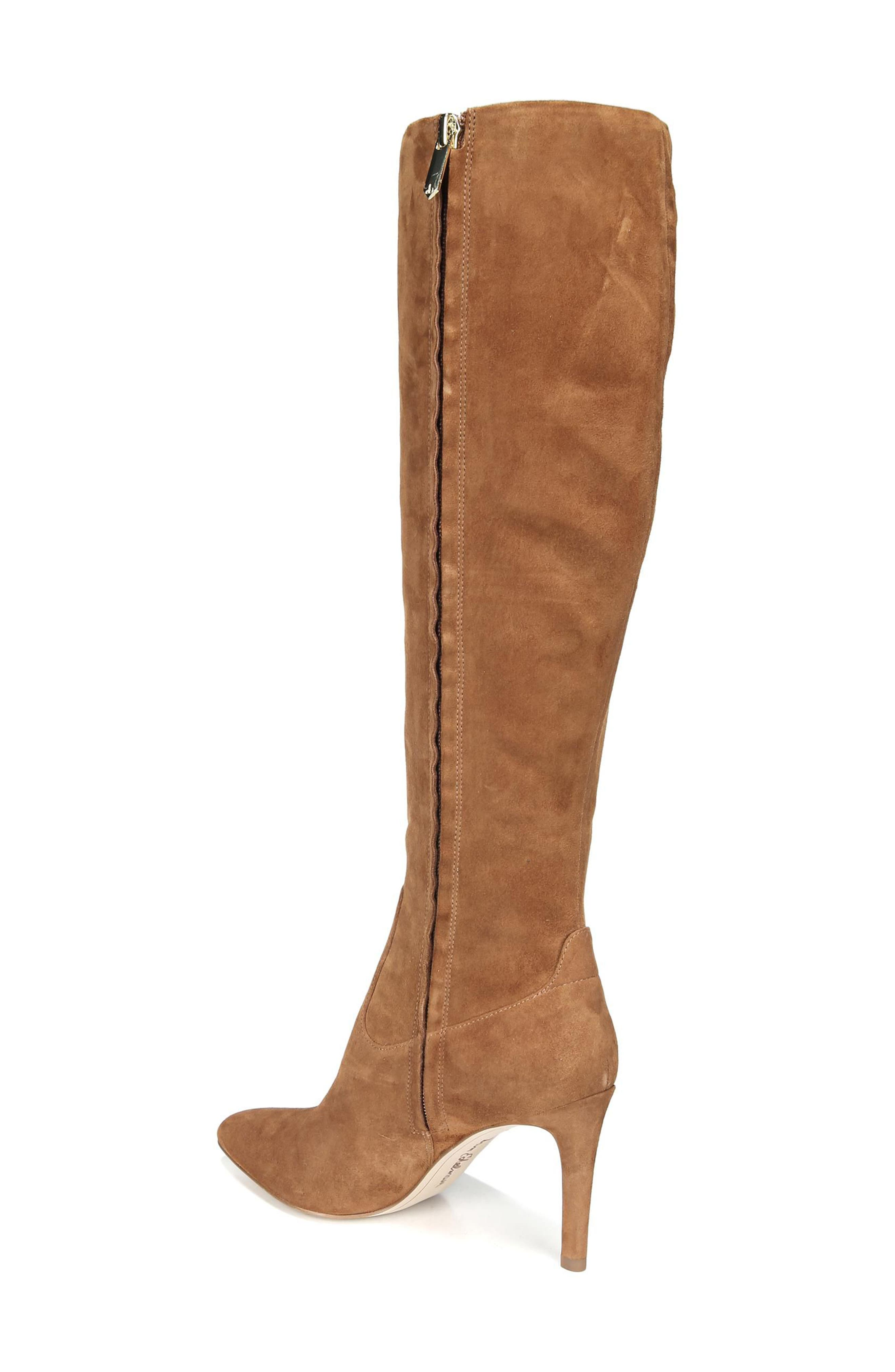 Olencia Knee High Boot,                             Alternate thumbnail 2, color,                             Luggage Suede