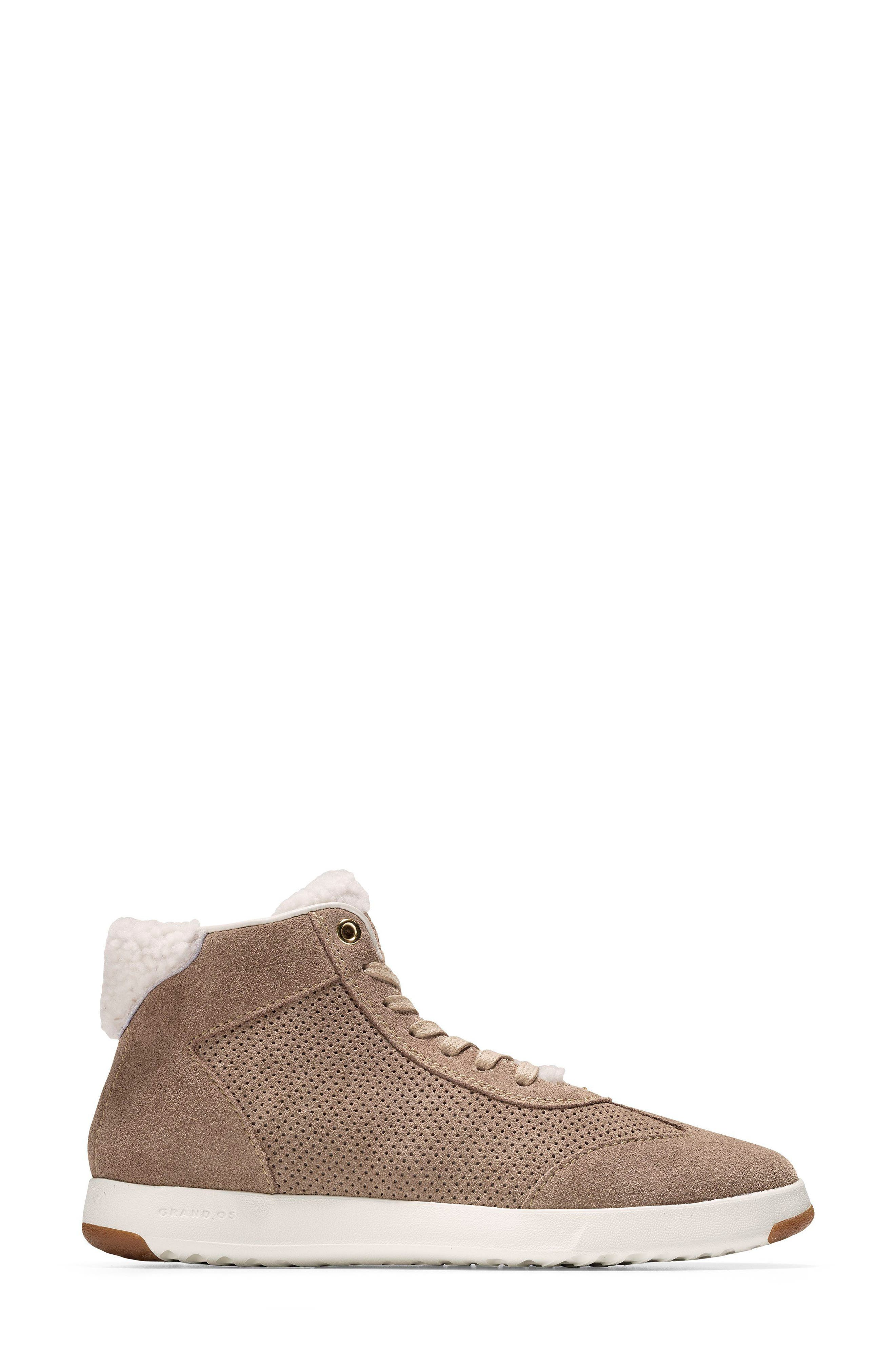 GrandPro High Top Sneaker,                             Alternate thumbnail 3, color,                             Warm Sand Suede