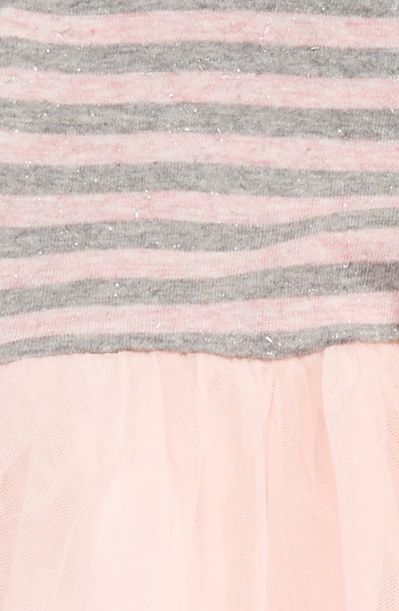 Dress & Leggings Set,                             Alternate thumbnail 2, color,                             Pink Baby- Grey Stripe