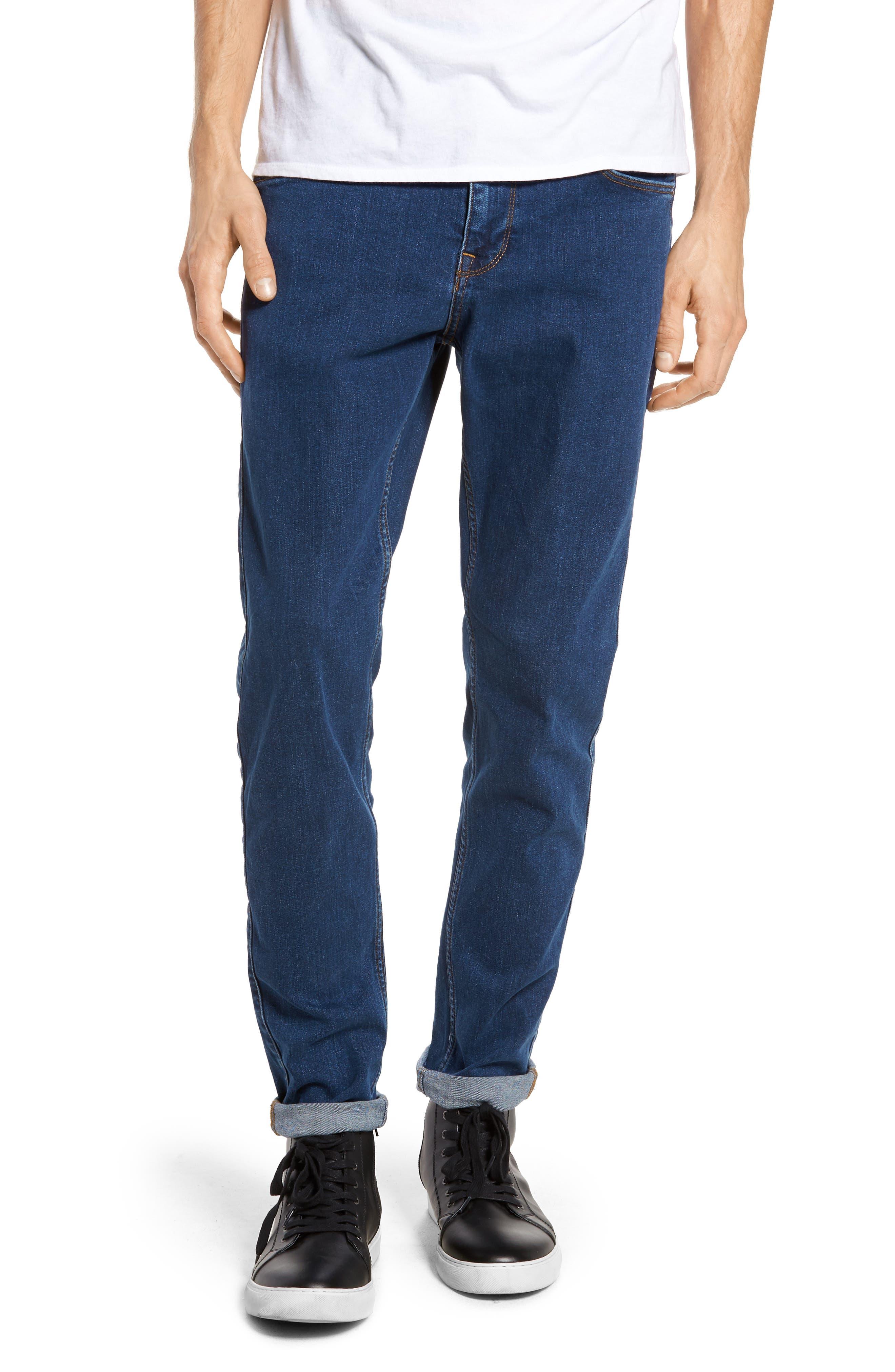Clark Slim Straight Leg Jeans,                             Main thumbnail 1, color,                             Mid Retro