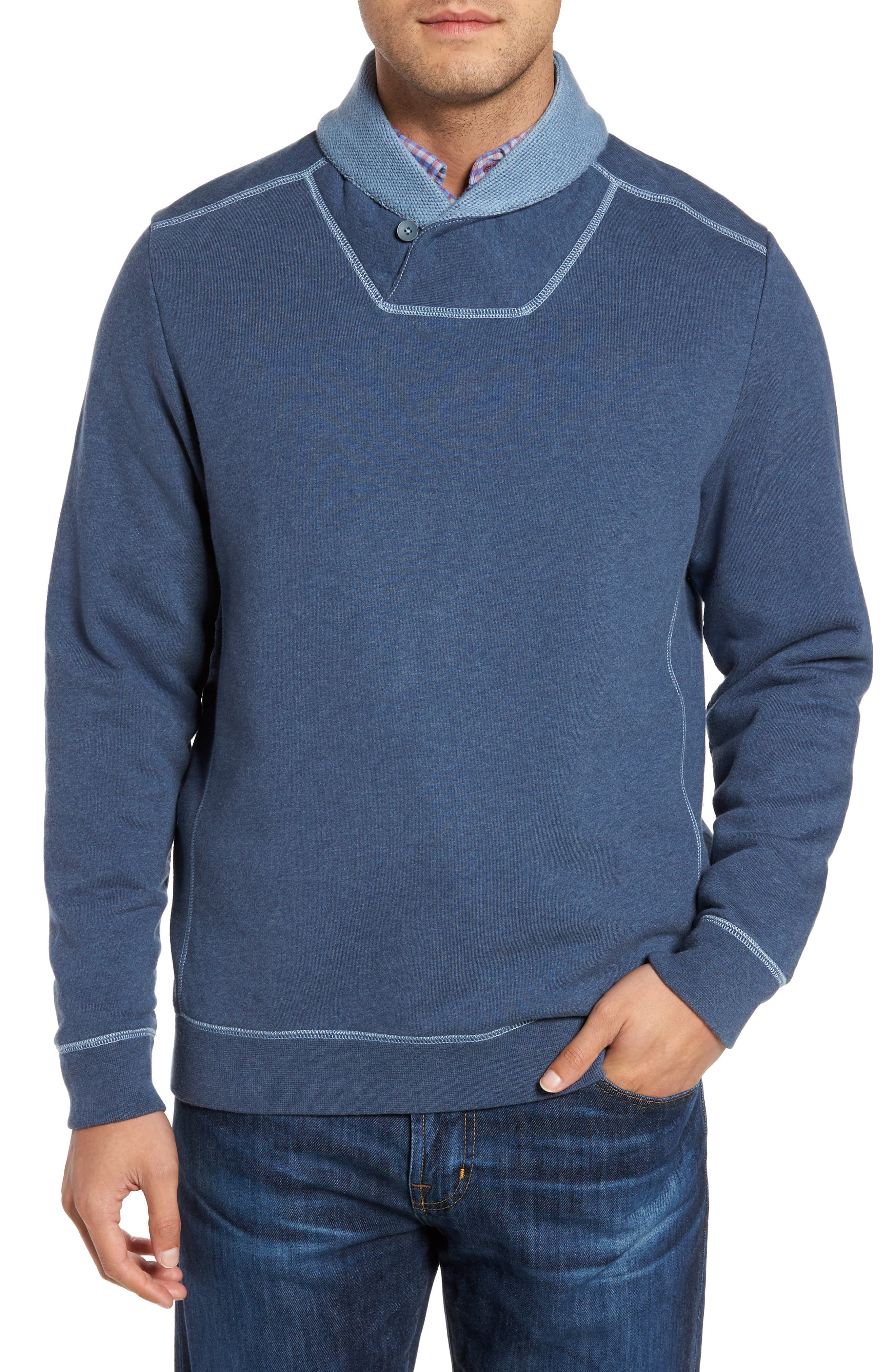 Tommy Bahama Shorecrest Shawl Collar Pullover