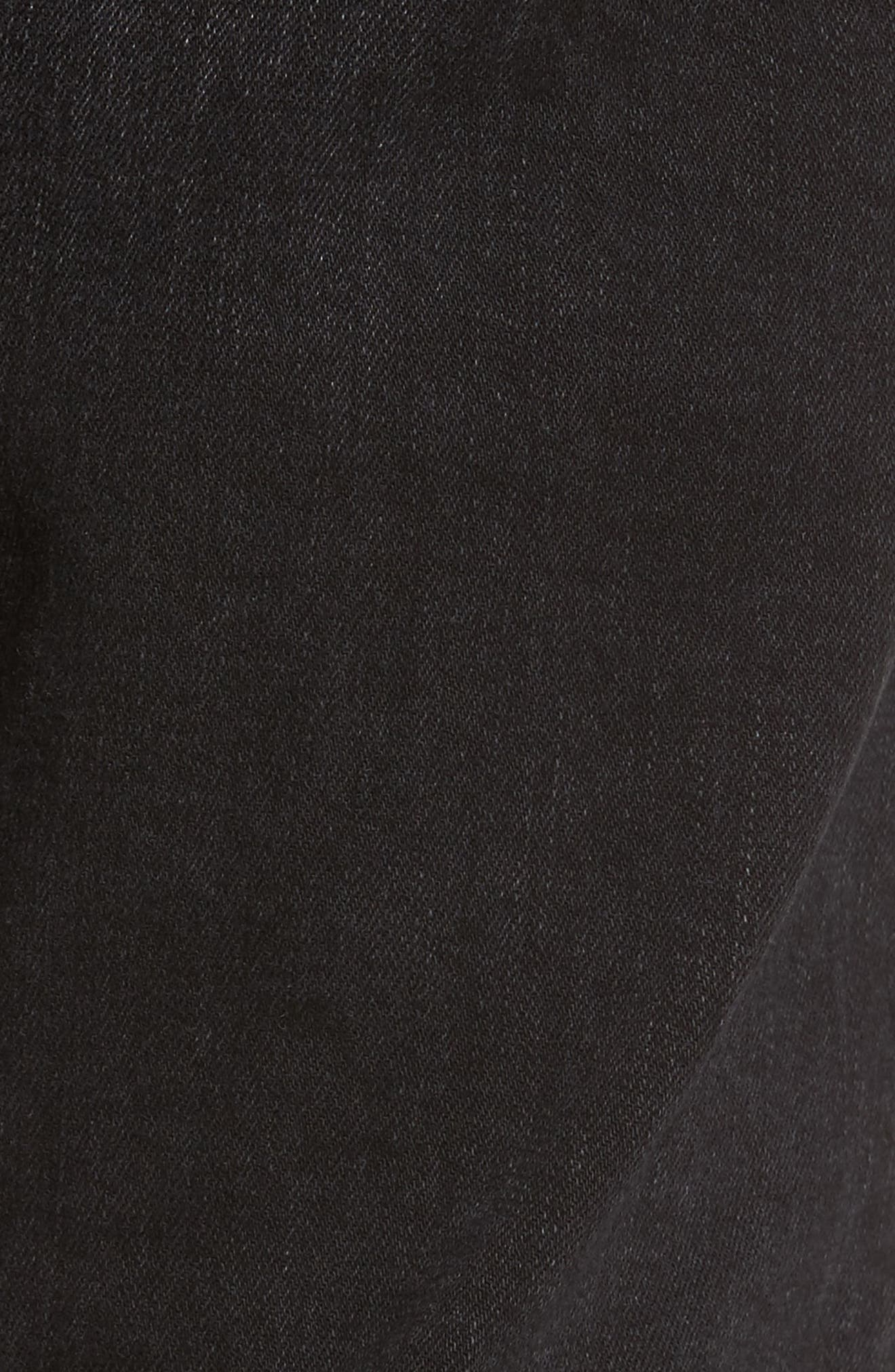 Clark Slim Straight Leg Jeans,                             Alternate thumbnail 5, color,                             Organic Worn Black